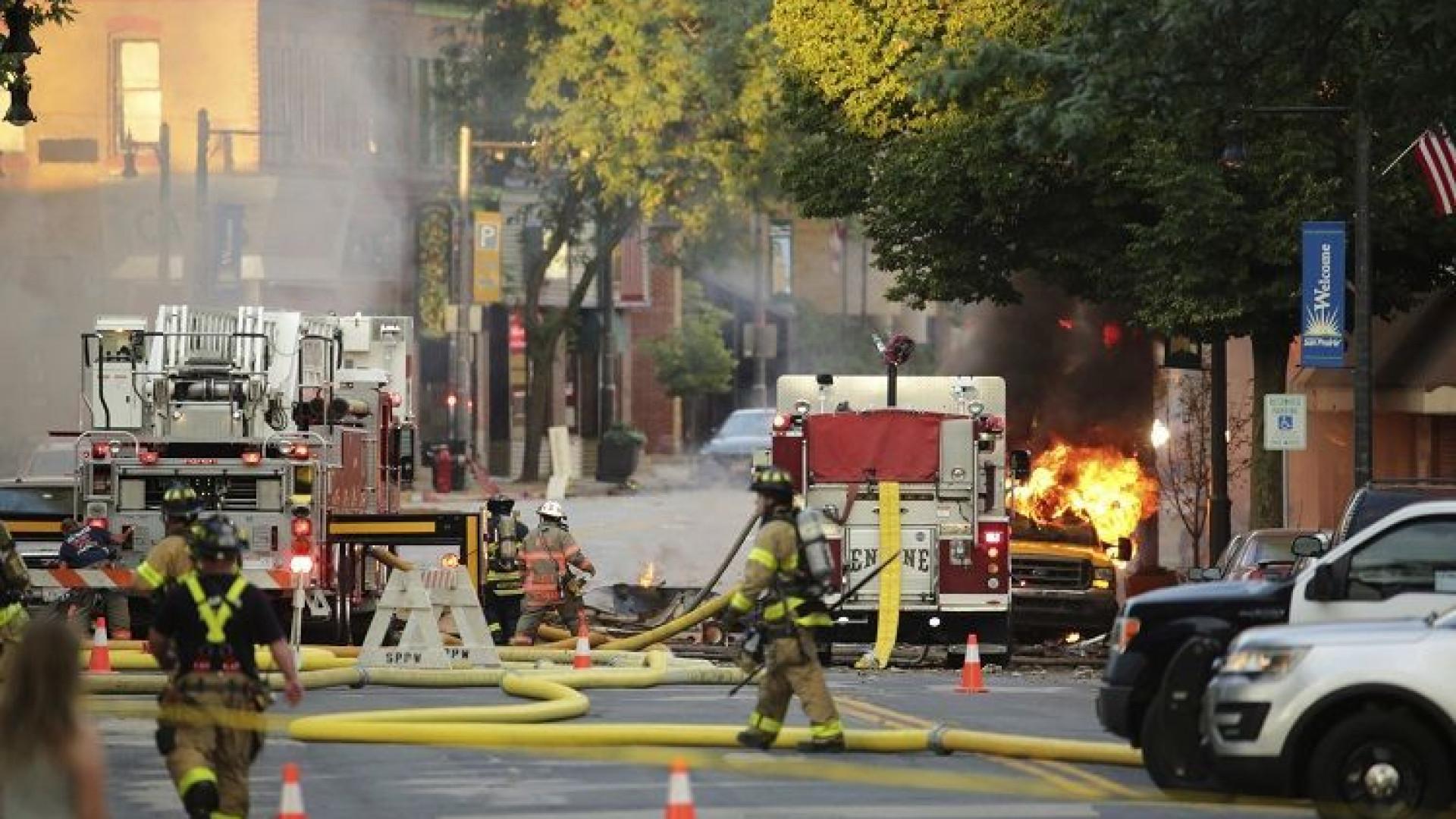 Explosão de gás e incêndio mata bombeiro e fere civis nos EUA