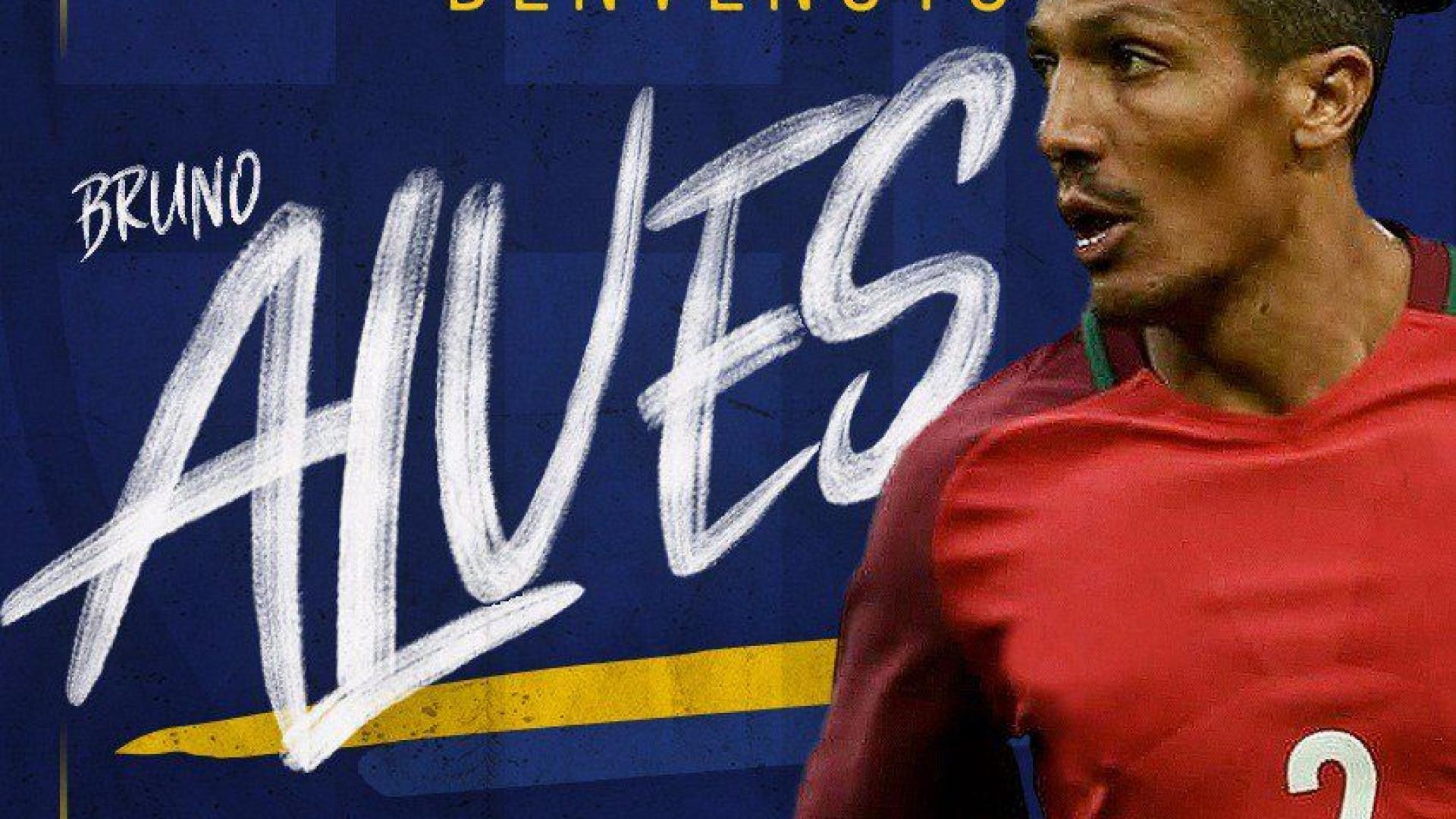 'Benvenuto': Parma oficializou Bruno Alves