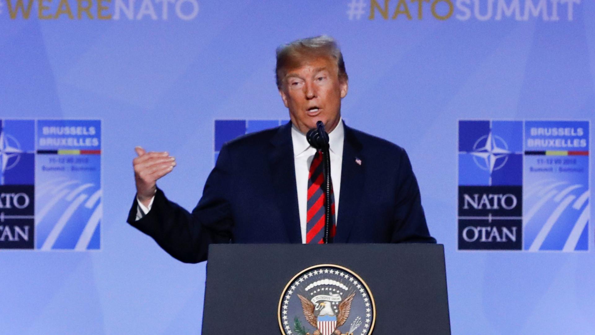 """NATO: """"Agora, os EUA estão a ser tratados de forma mais justa"""""""