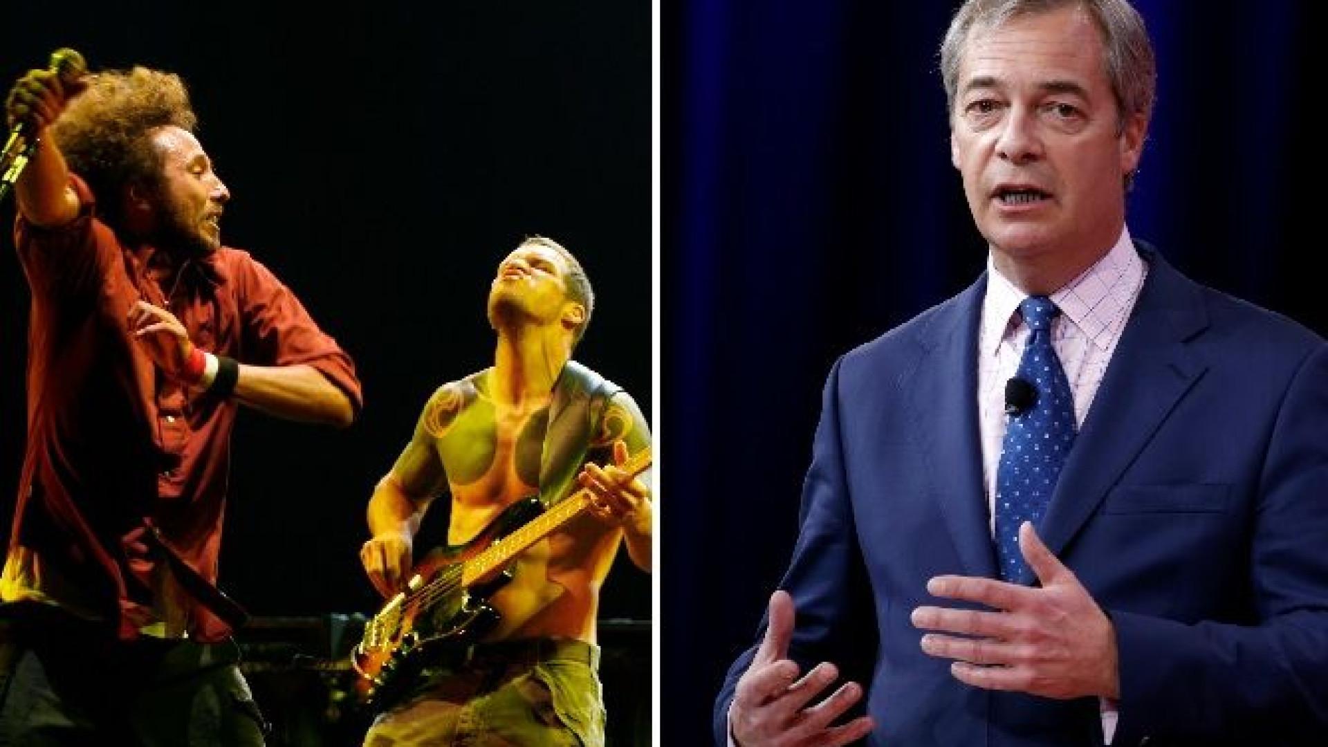 Rage Against The Machine, Nigel Farage e o podcast da discórdia