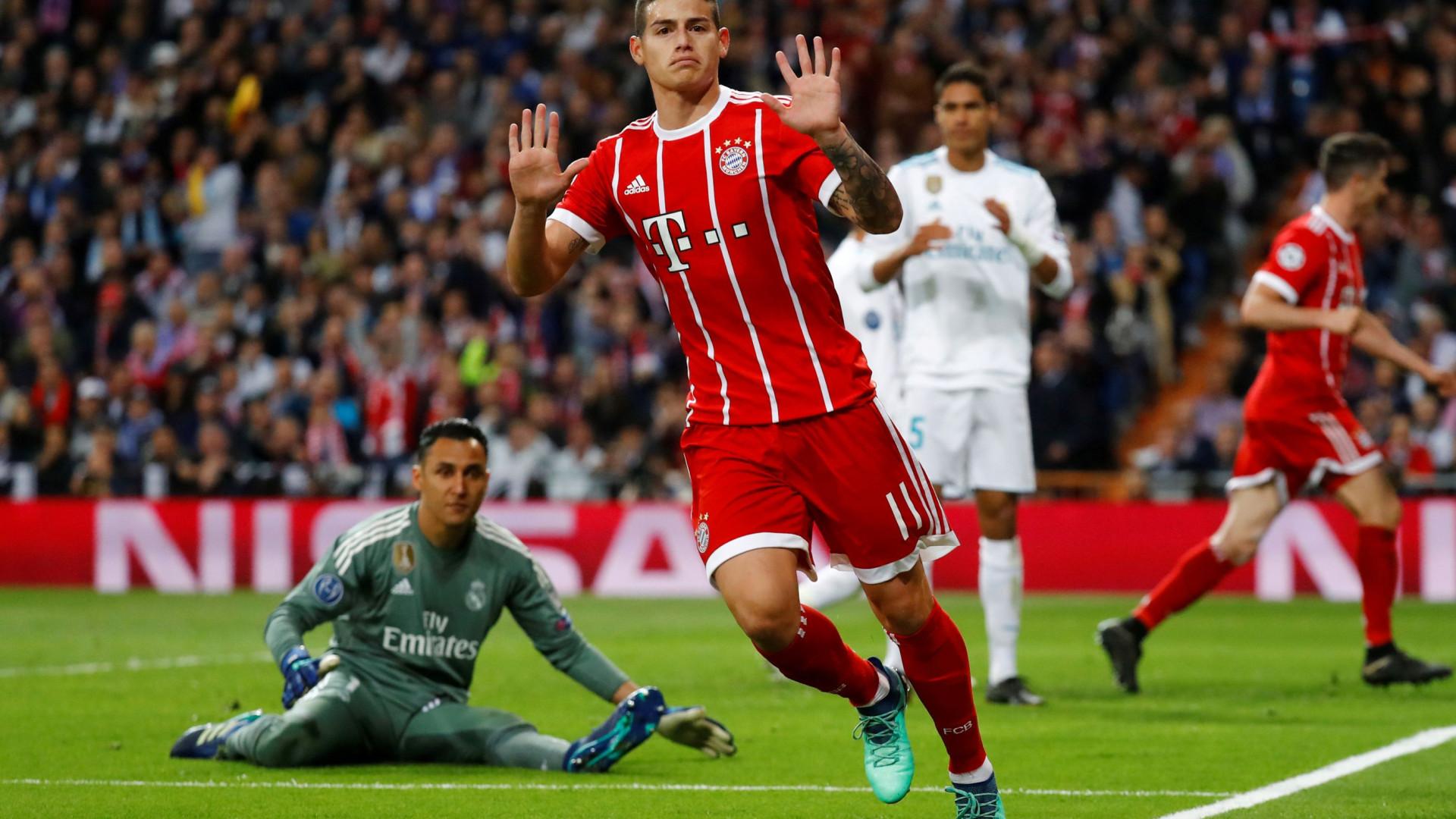 James pretende regressar ao Real Madrid