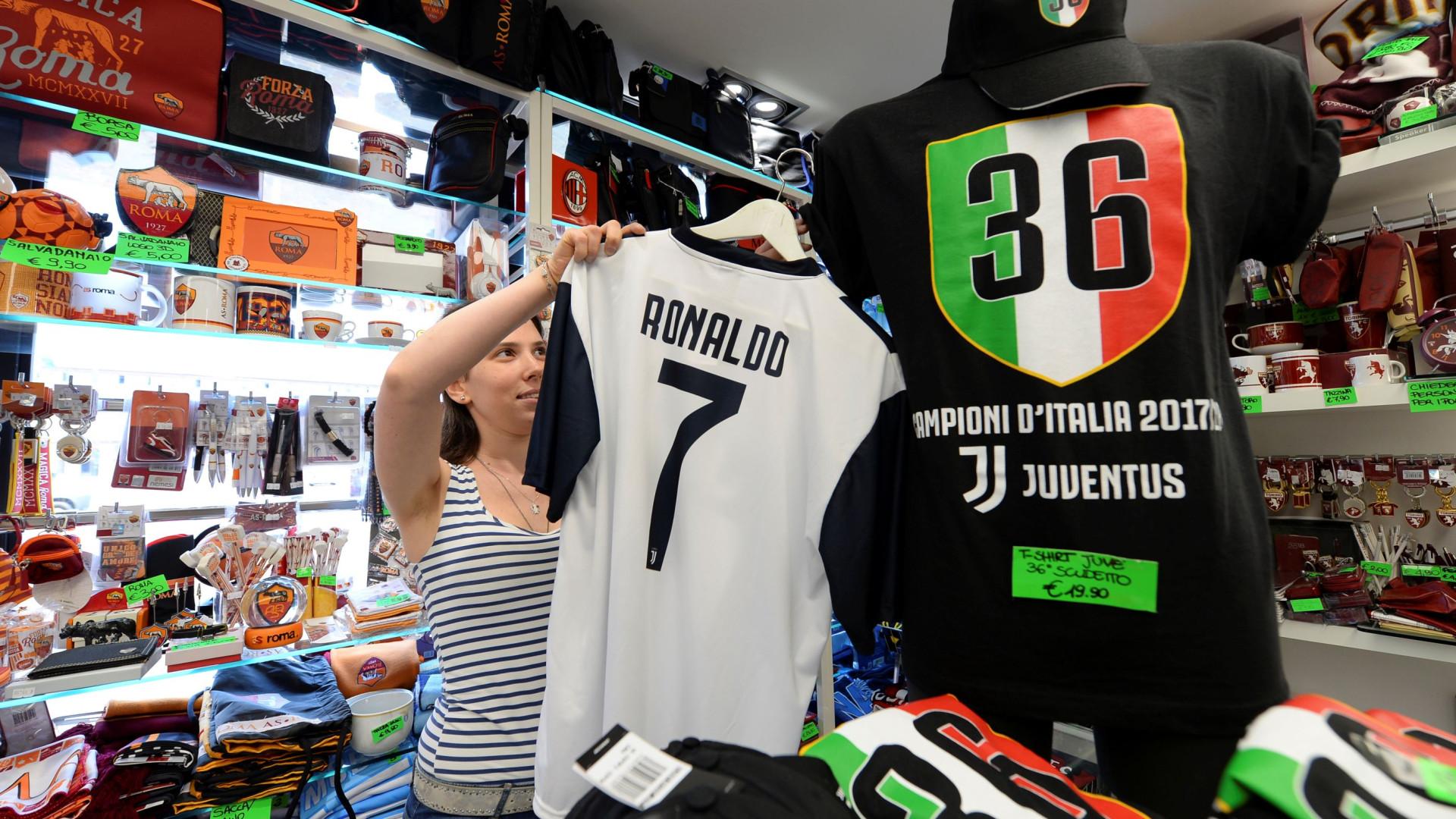 Impressionante  Juventus já ganhou metade do dinheiro gasto em Ronaldo e1f747bed48d7