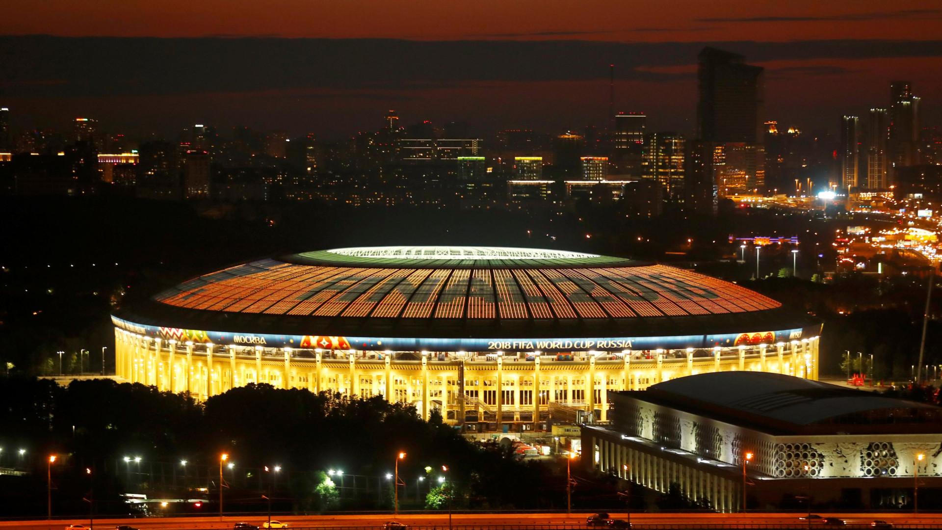 França e Croácia 'poupam' relvado do Estádio Luzhniki