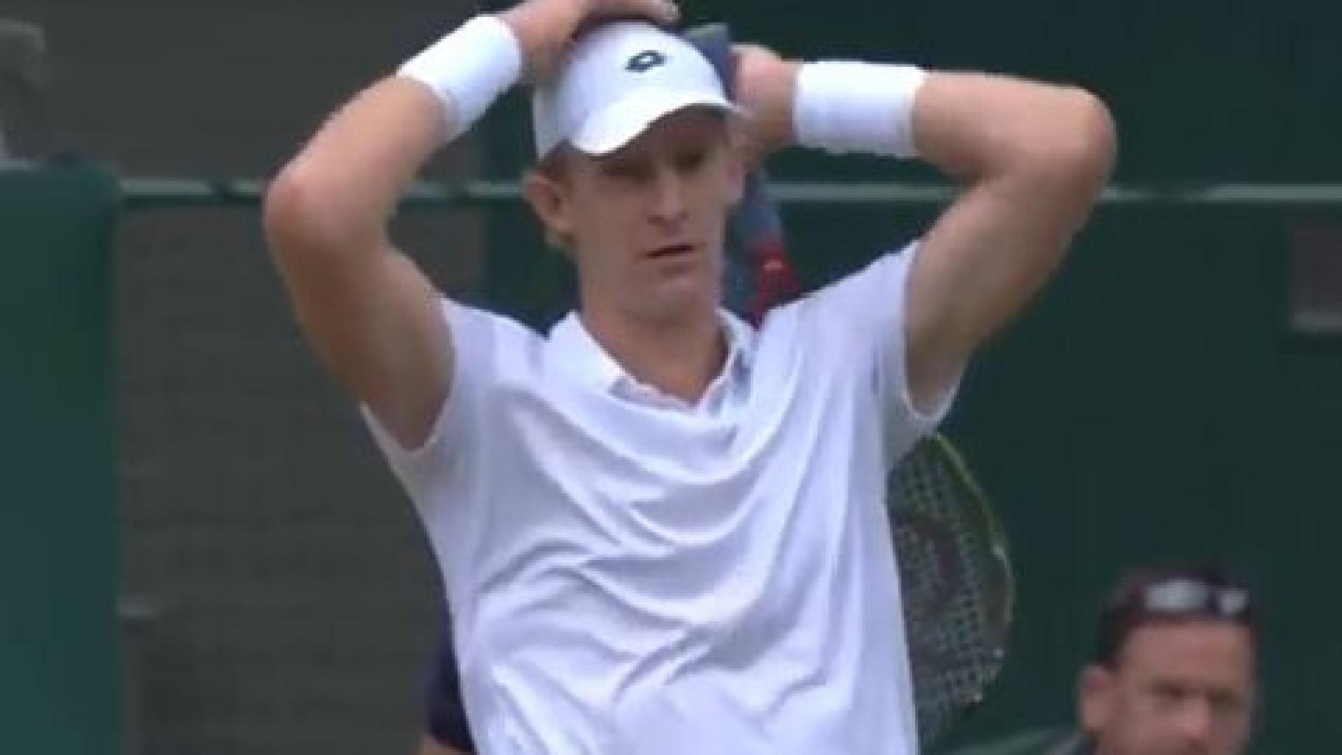 A incrível (e estranha) reação de Anderson após jogo de 6h35 em Wimbledon