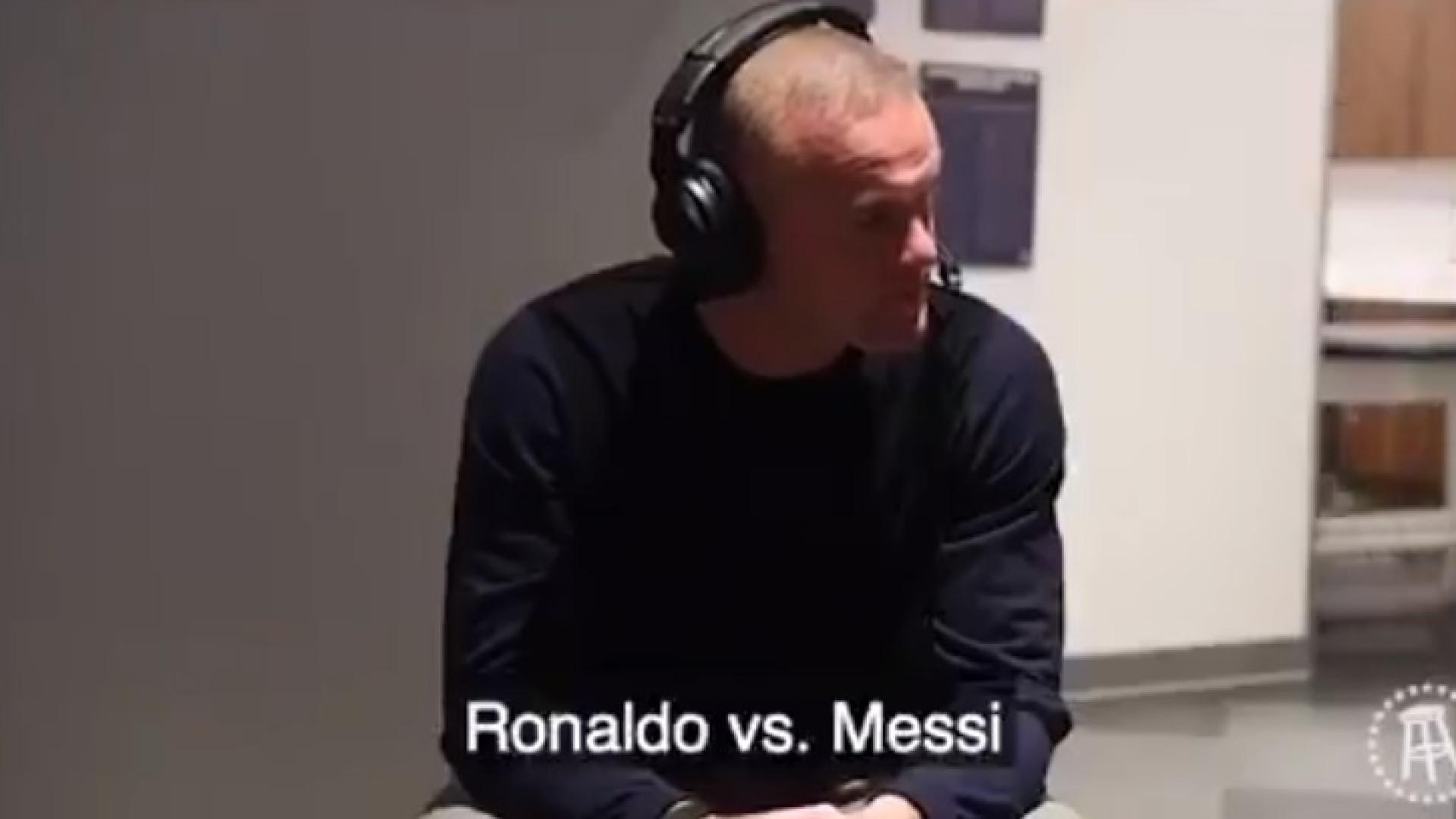 Messi ou CR7, qual o melhor? Rooney nem pensou duas vezes
