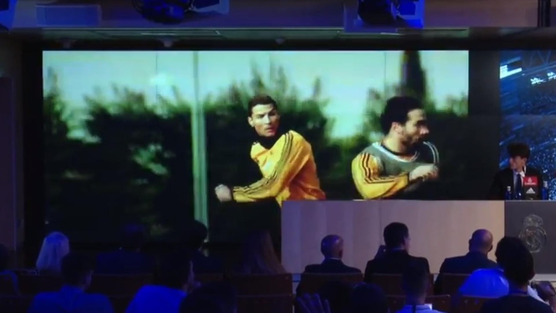 Ronaldo, Casillas e Zidane 'assombraram' apresentação de Odriozola