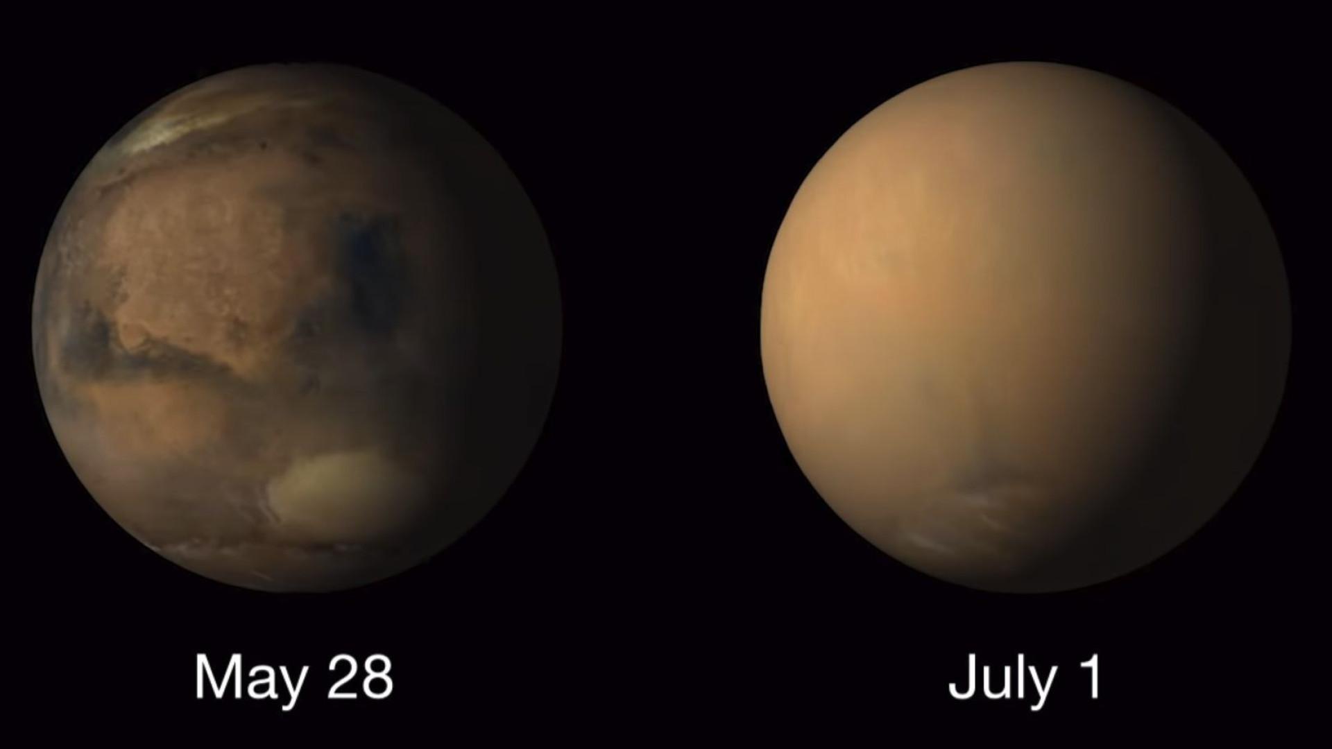 Vídeo mostra-lhe o impacto da tempestade de Marte