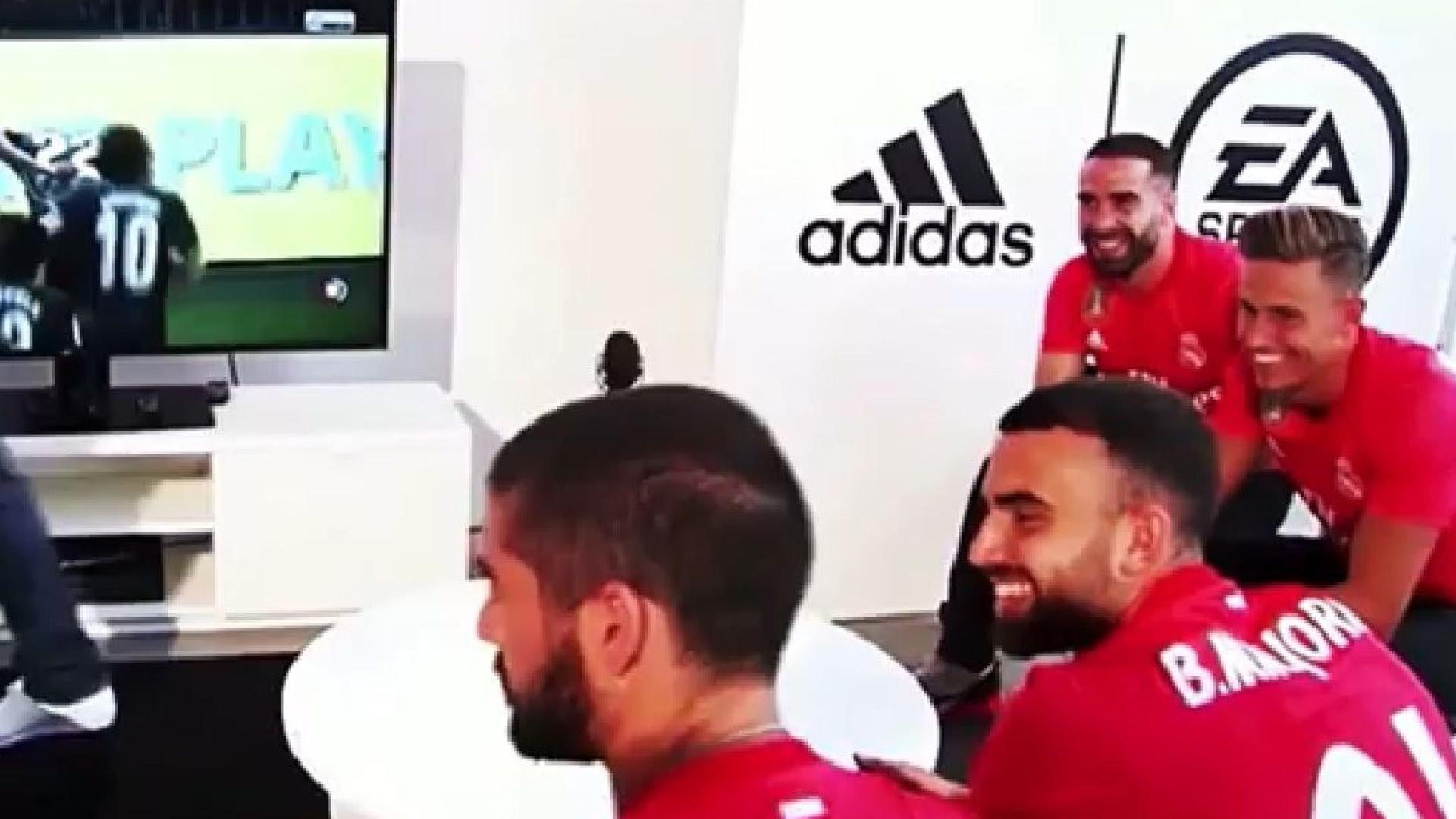 A jogar FIFA, Isco aproveitou para enviar recado a Ronaldo
