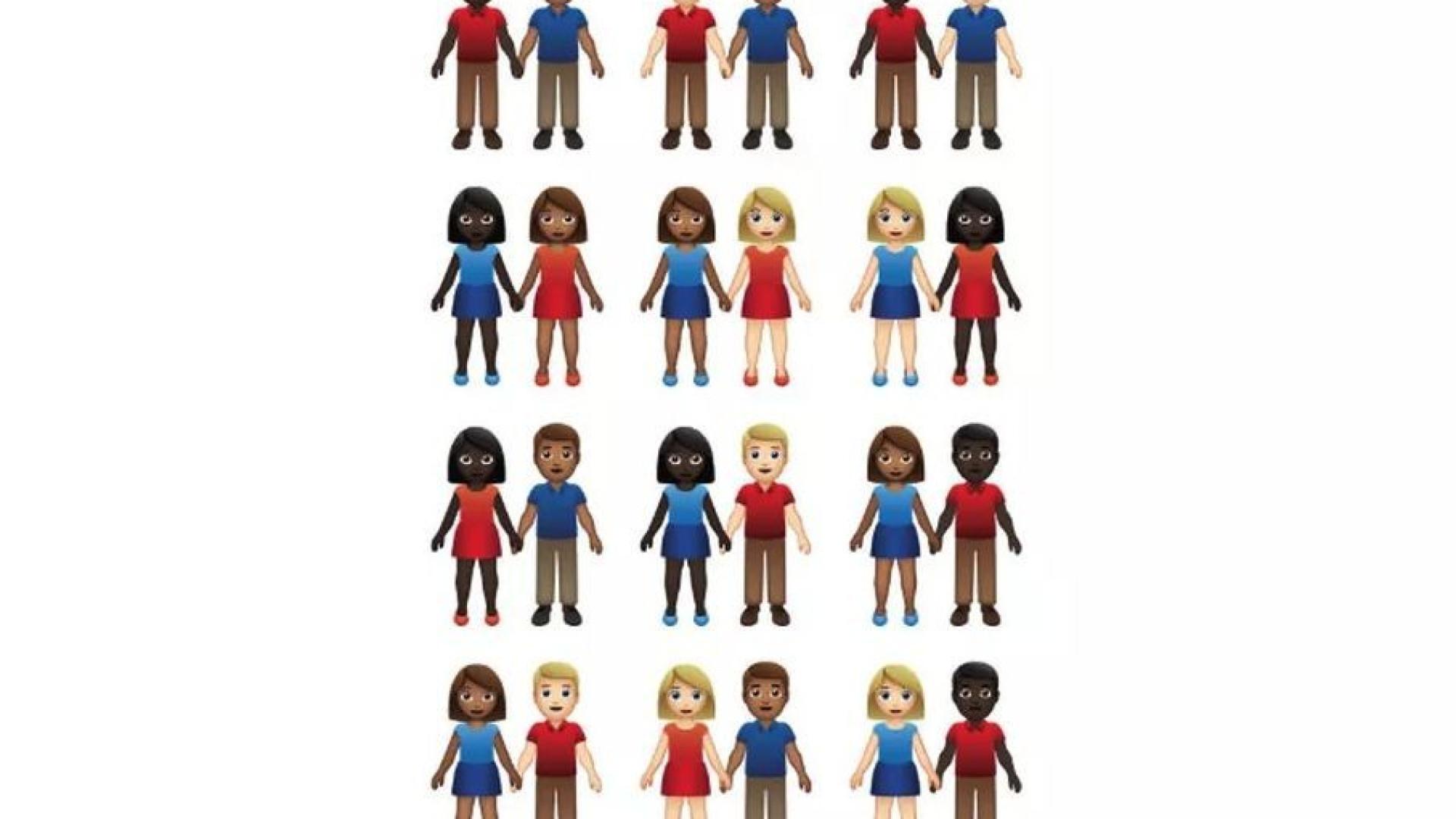 Emoji de casal terá direito a 55 versões diferentes