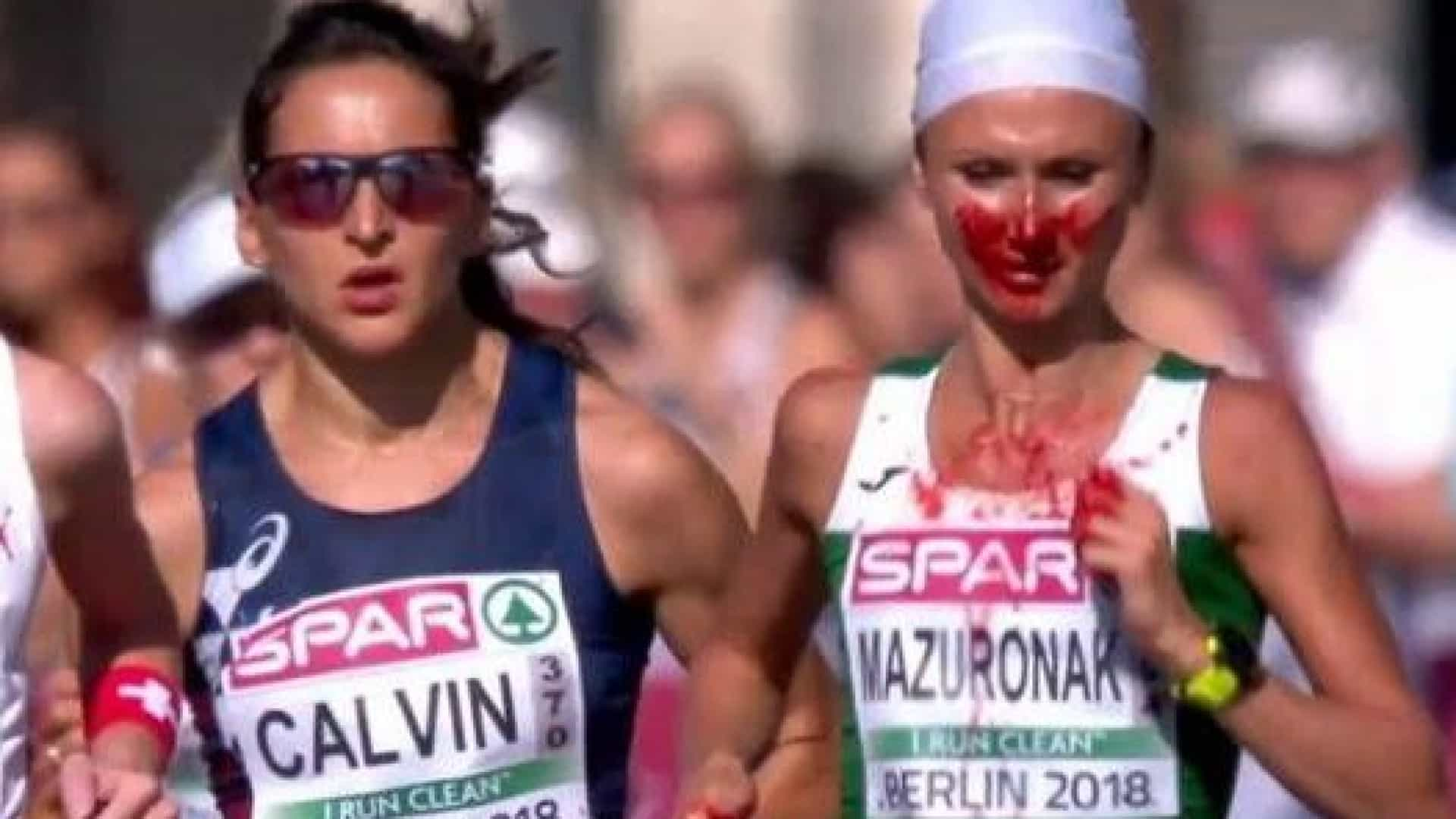 Nova campeã europeia da Maratona banhada a ouro... e sangue