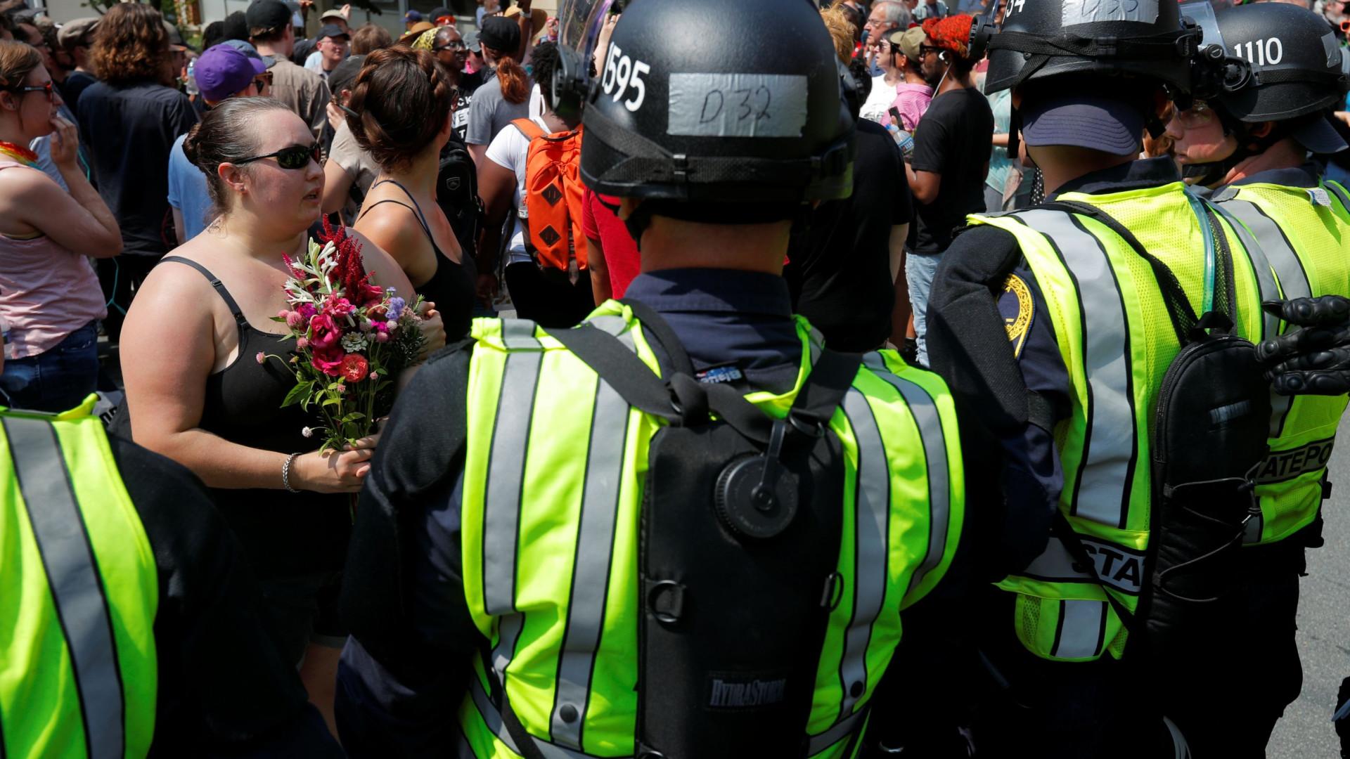 Manifestação contra a supremacia branca em Charlottesville