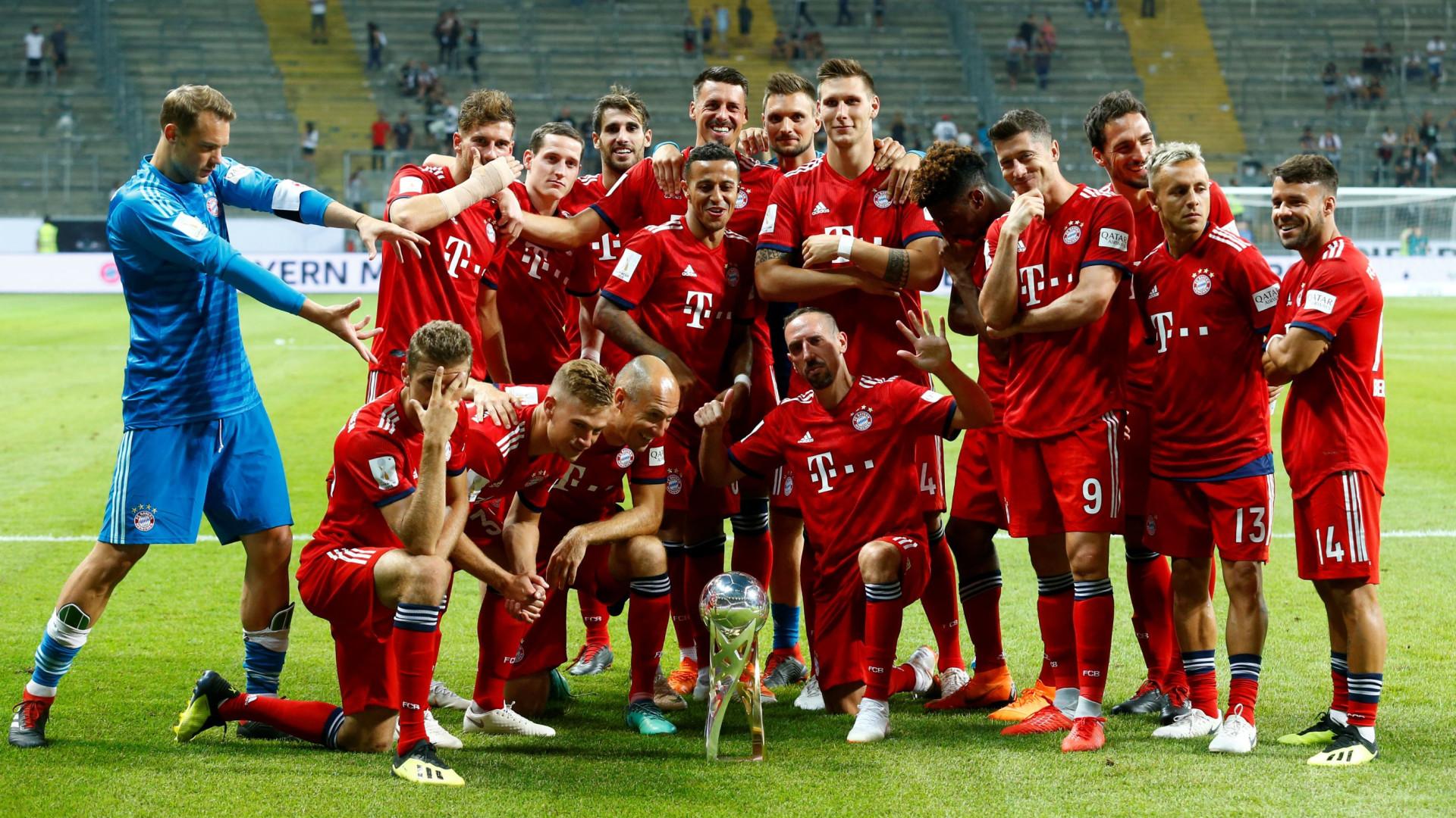 Bayern 'cilindra' Eintracht e conquista terceira Supertaça consecutiva
