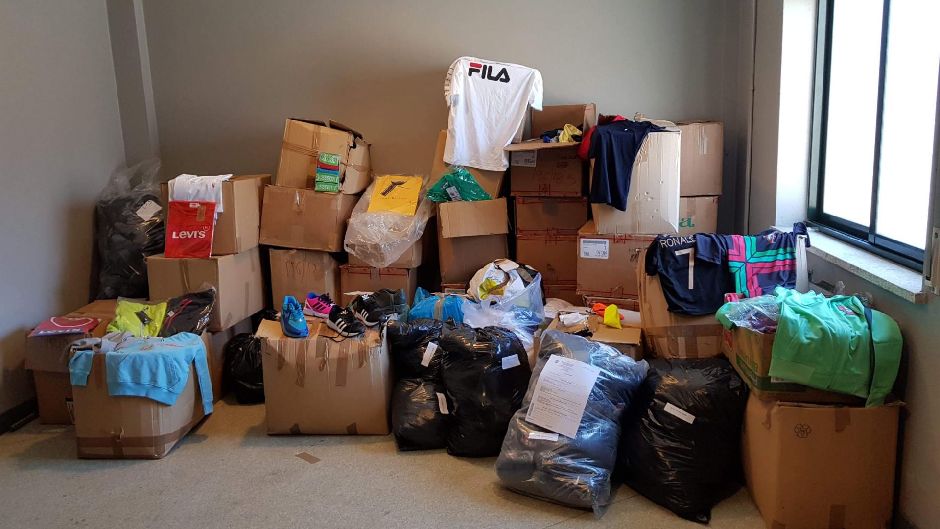 Apreendidos 25 mil euros de material contrafeito em Braga