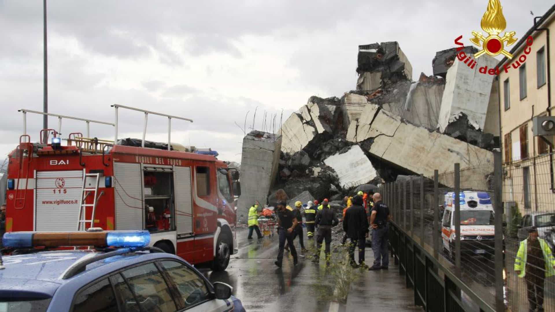 Génova: Número de mortos após queda de ponte sobe para 35