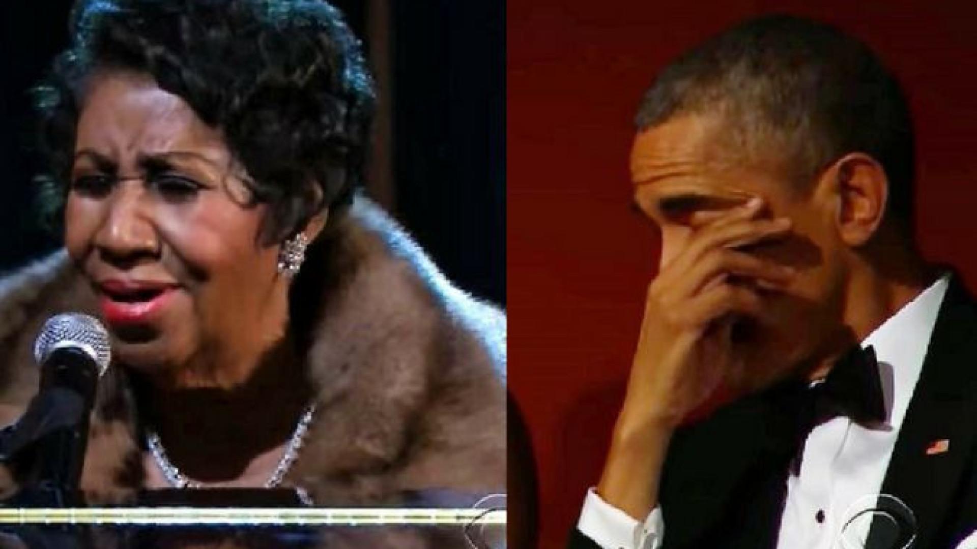 A emoção de Obama numa das últimas atuações de Aretha Franklin