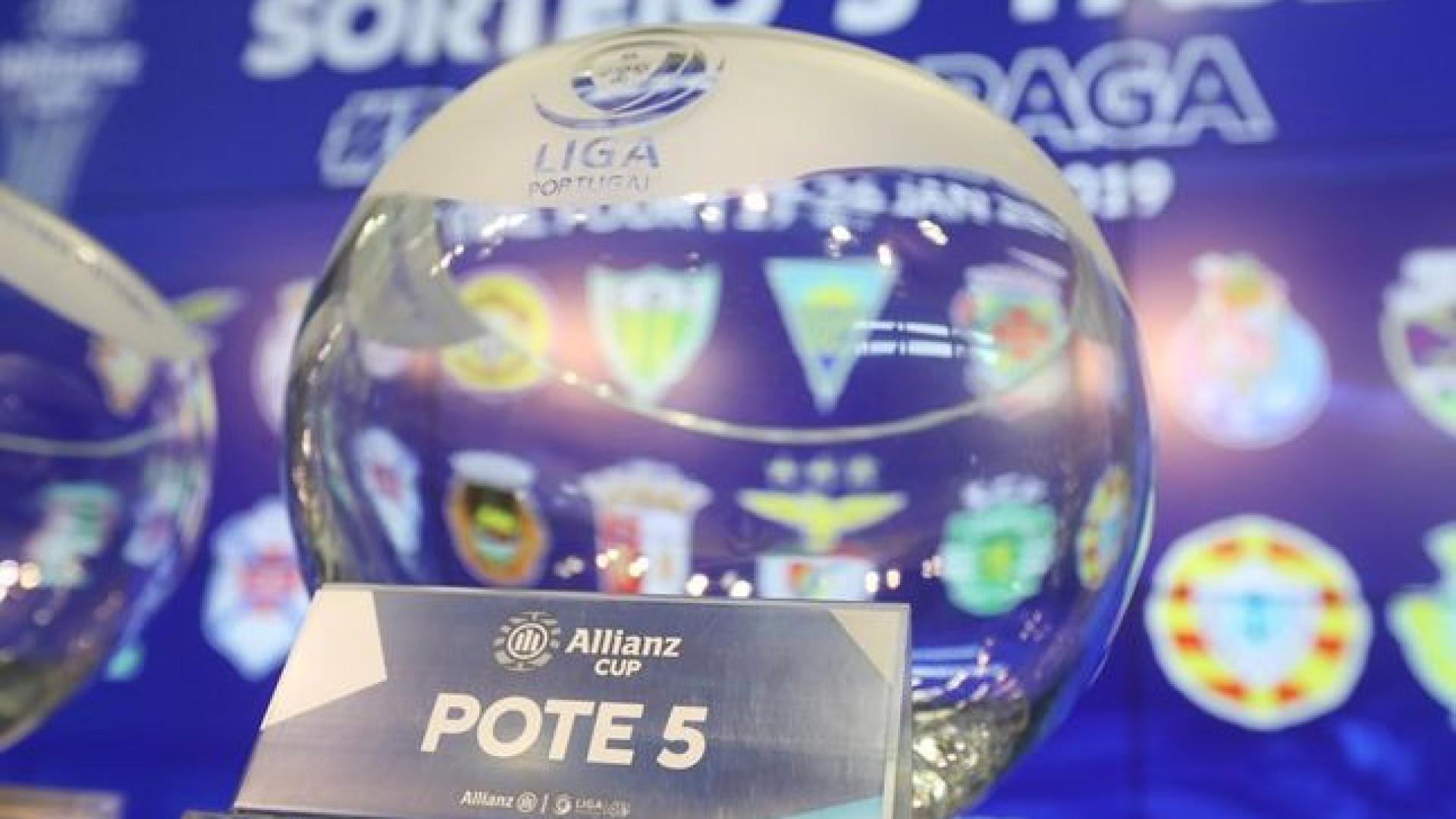 Taça da Liga: Benfica recebe Rio Ave, Sporting de Braga o Tondela