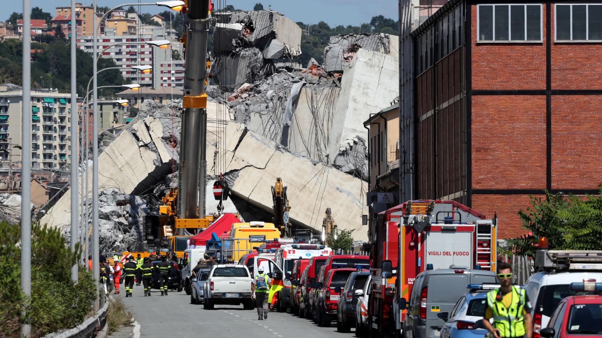Número de mortos na queda de viaduto em Génova sobe para 41