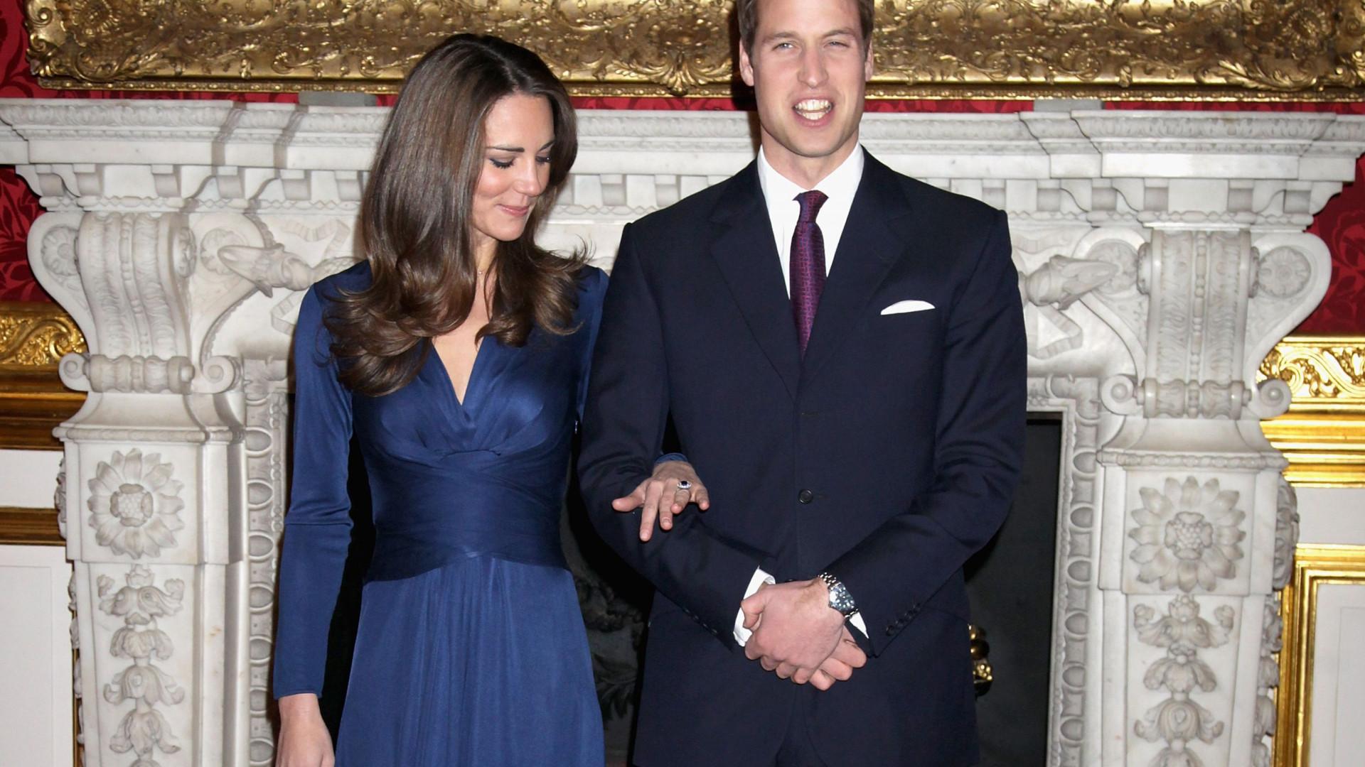 Anel de noivado de Kate Middleton gerou controvérsia na família real