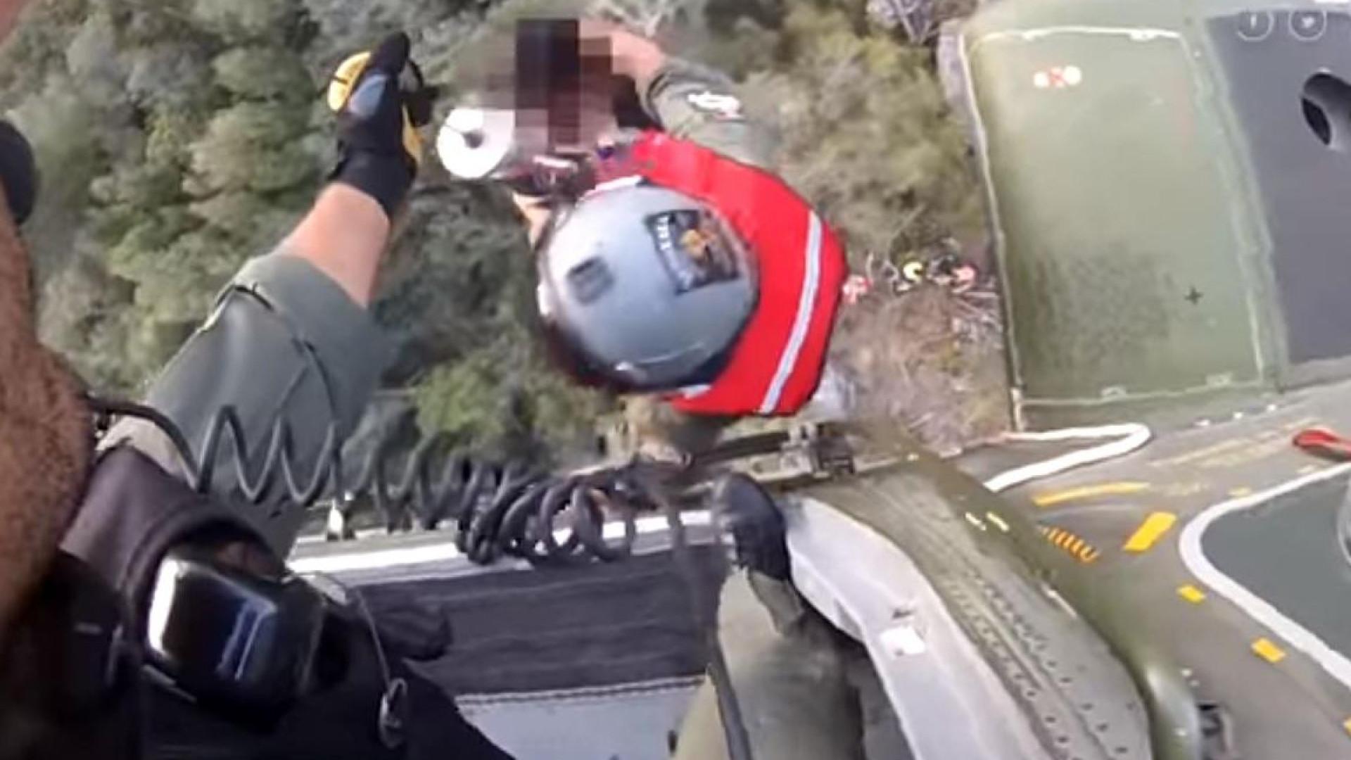 O vídeo do resgate dos dois jovens que se perderam no Gerês
