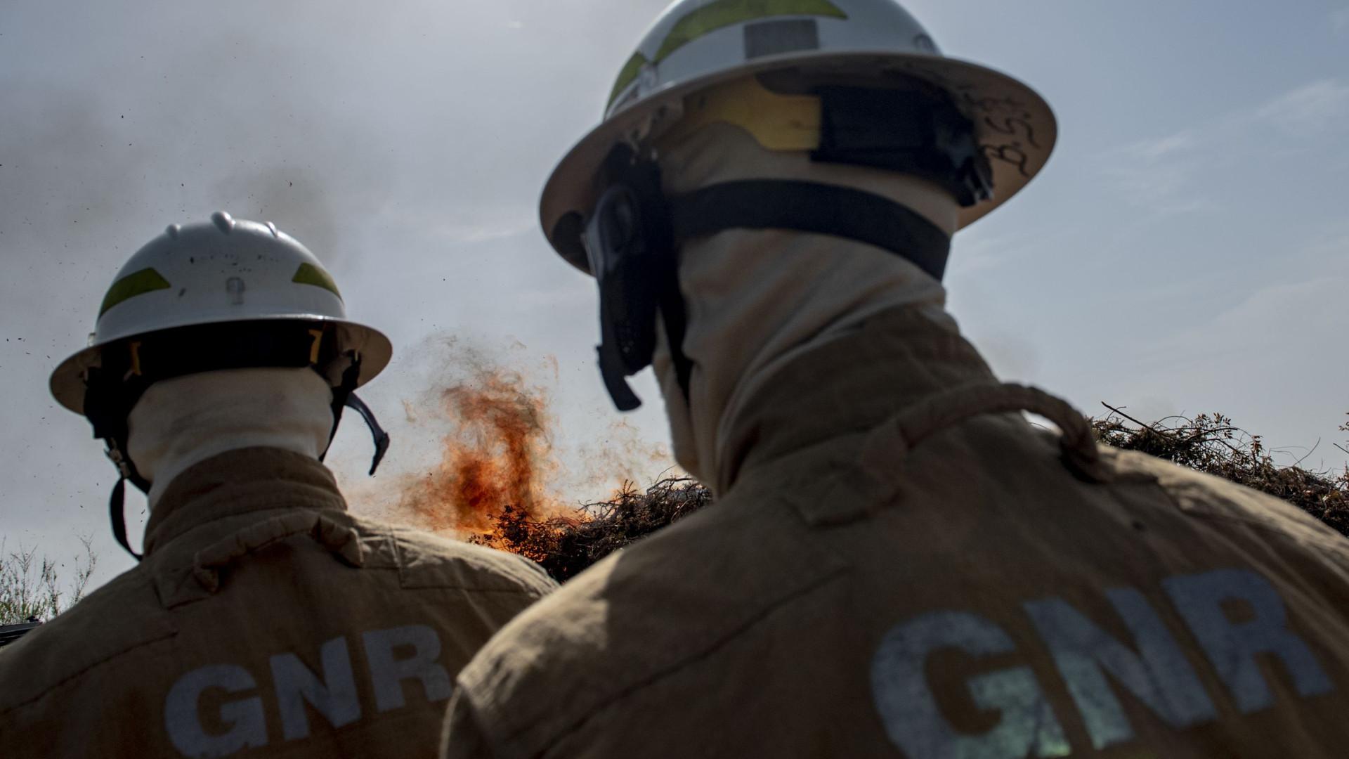Militar da GNR ferido no fogo de Mourão foi transferido para Lisboa