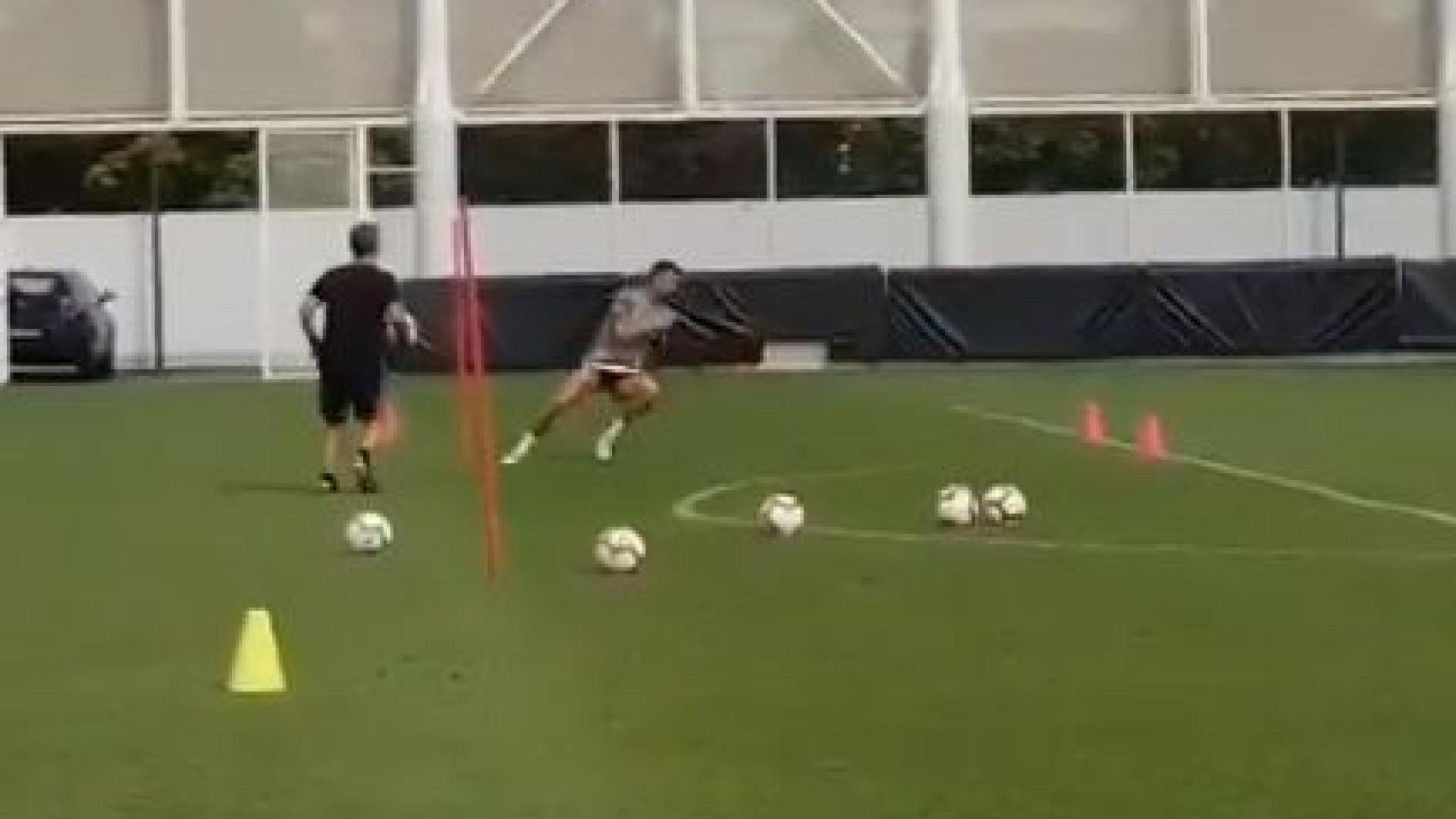 Eis uma prova da intensidade colocada por Ronaldo nos treinos da Juve