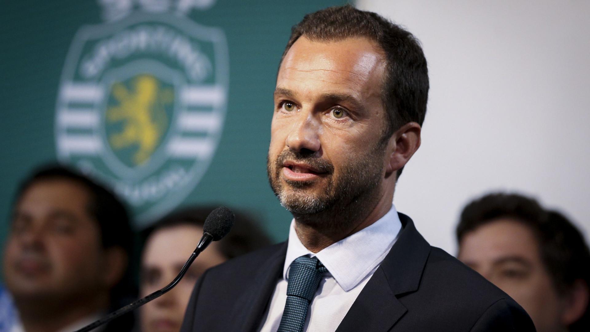Sporting formaliza Varandas como presidente da SAD