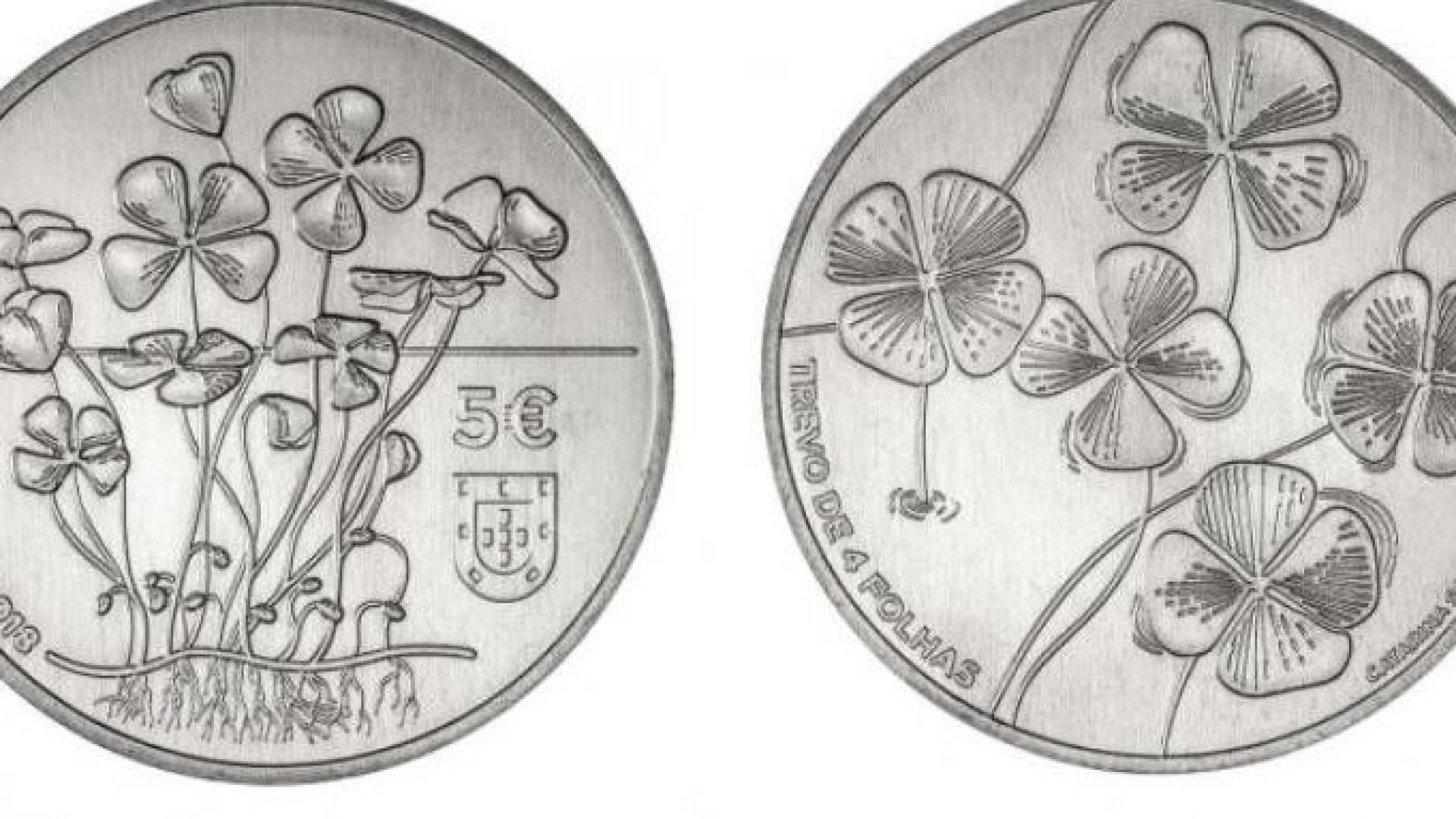 """Banco de Portugal lança nova moeda de coleção: """"Trevo de 4 folhas"""""""