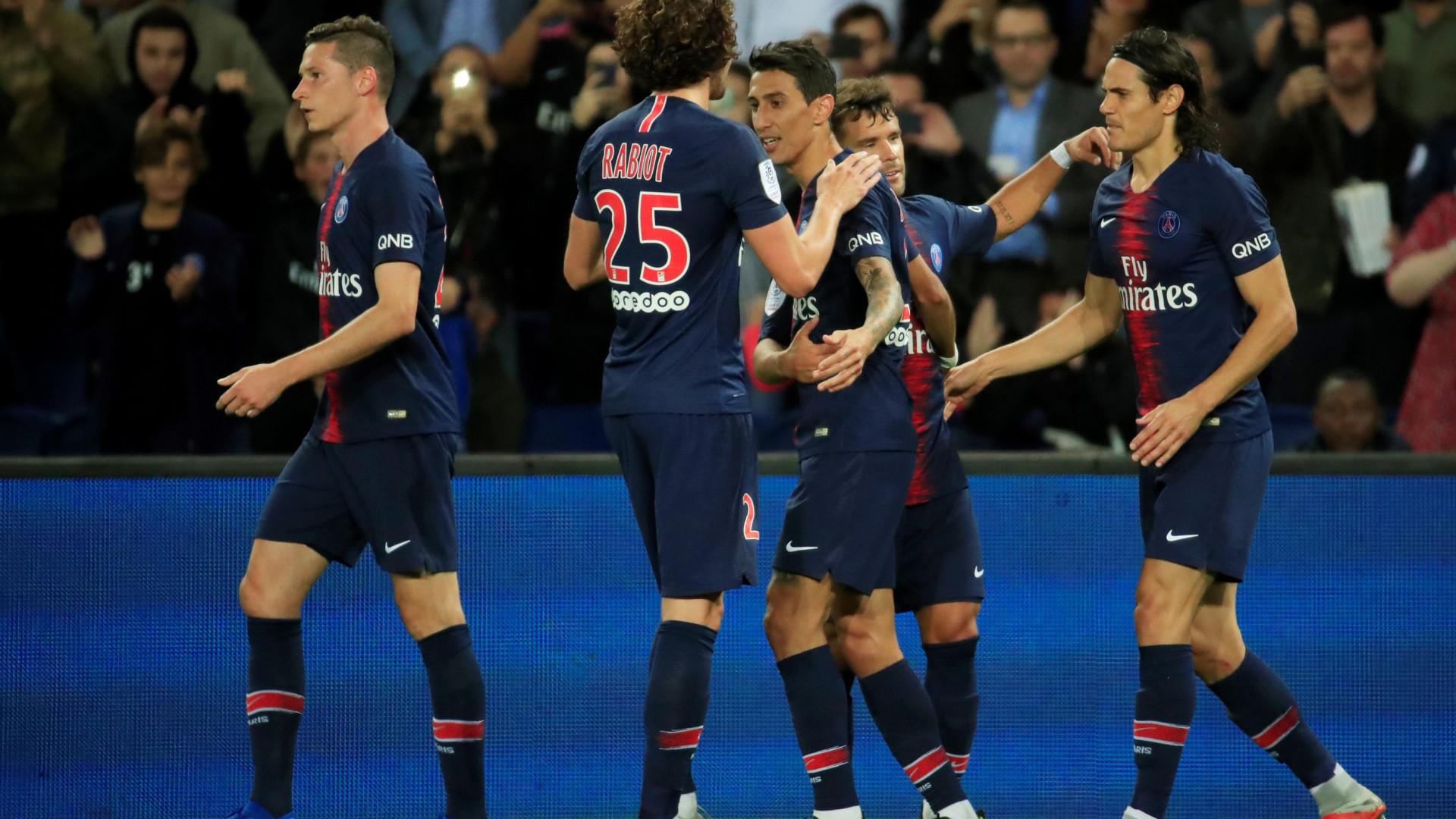 Sem Mbappé e Neymar, PSG aplica goleada ao St. Étienne