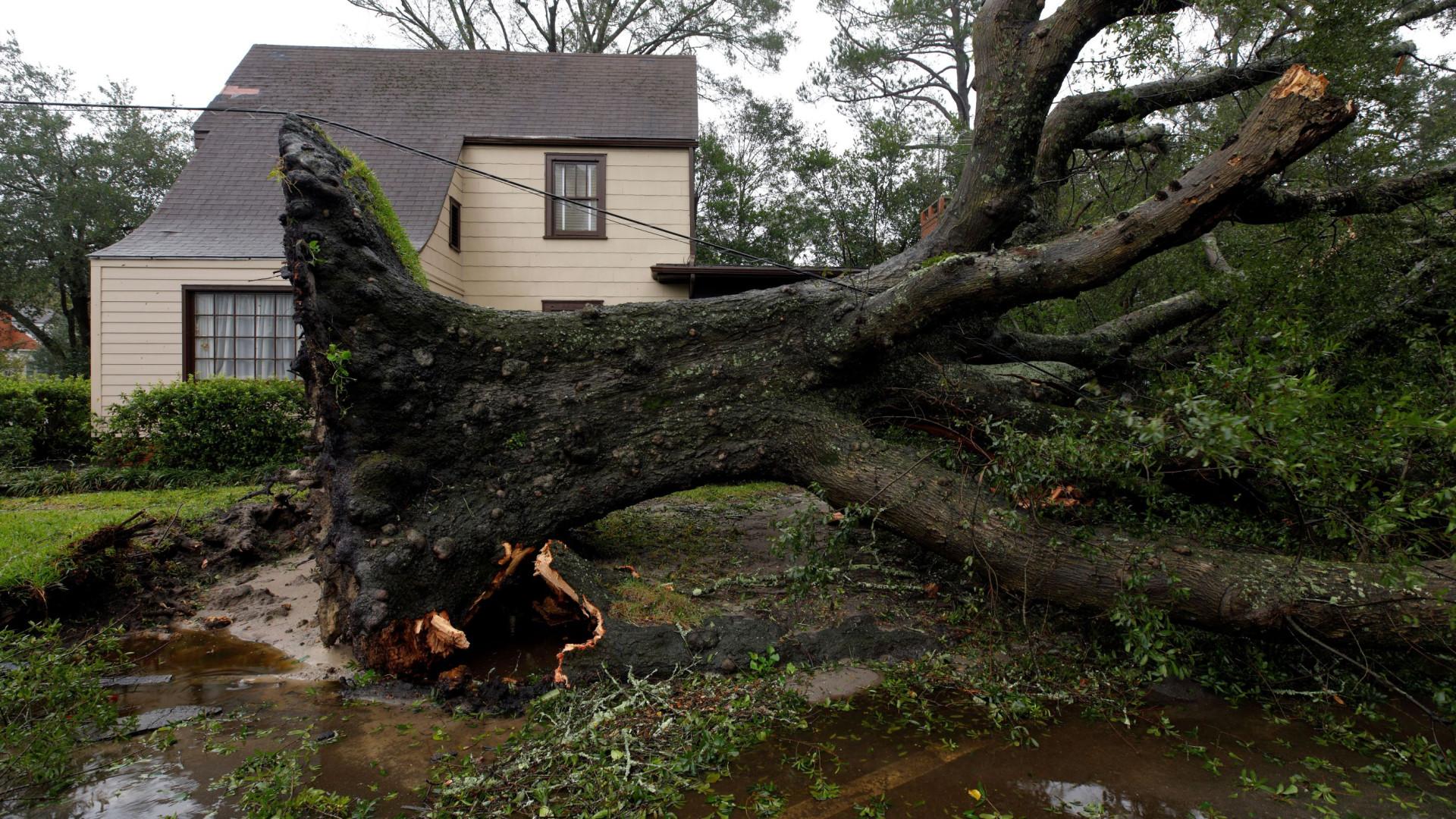 Florence passou de furacão a tempestade tropical
