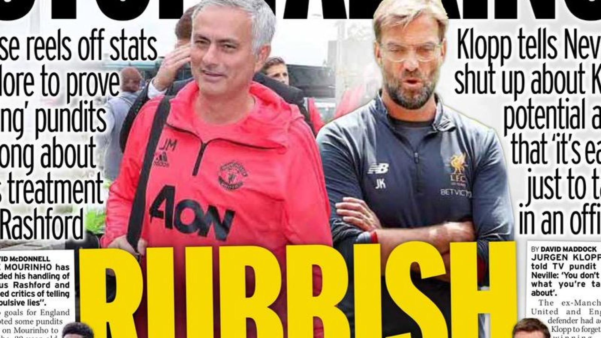 """Lá fora: O 'super sábado' e a resposta de Mourinho aos """"obcecados"""""""