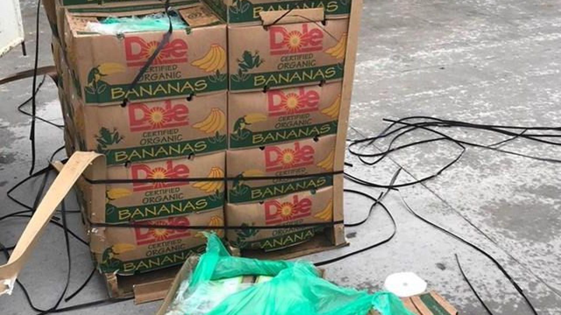 15 mil euros em cocaína encontrados em caixas de bananas nos EUA