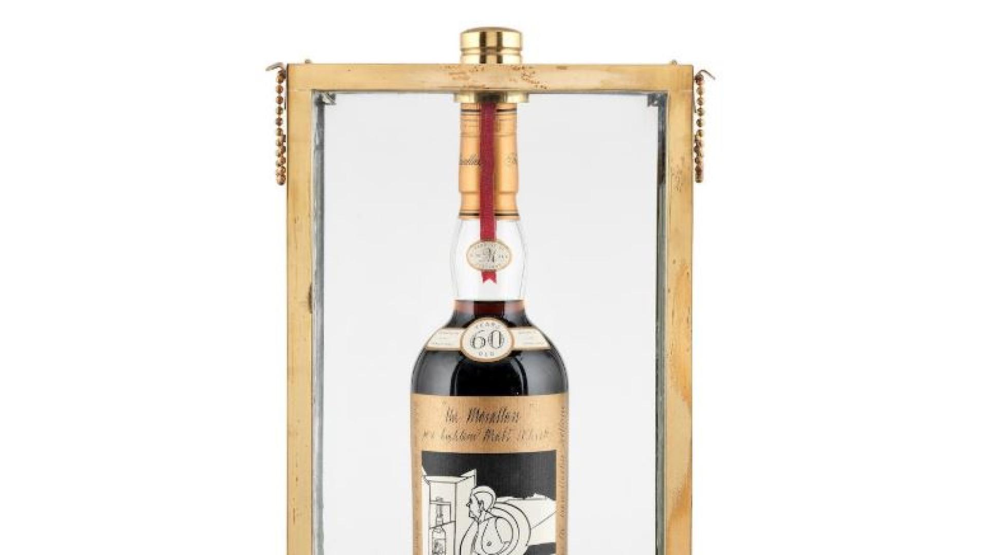 Esta garrafa de whisky foi leiloada pelo valor recorde de... Um milhão