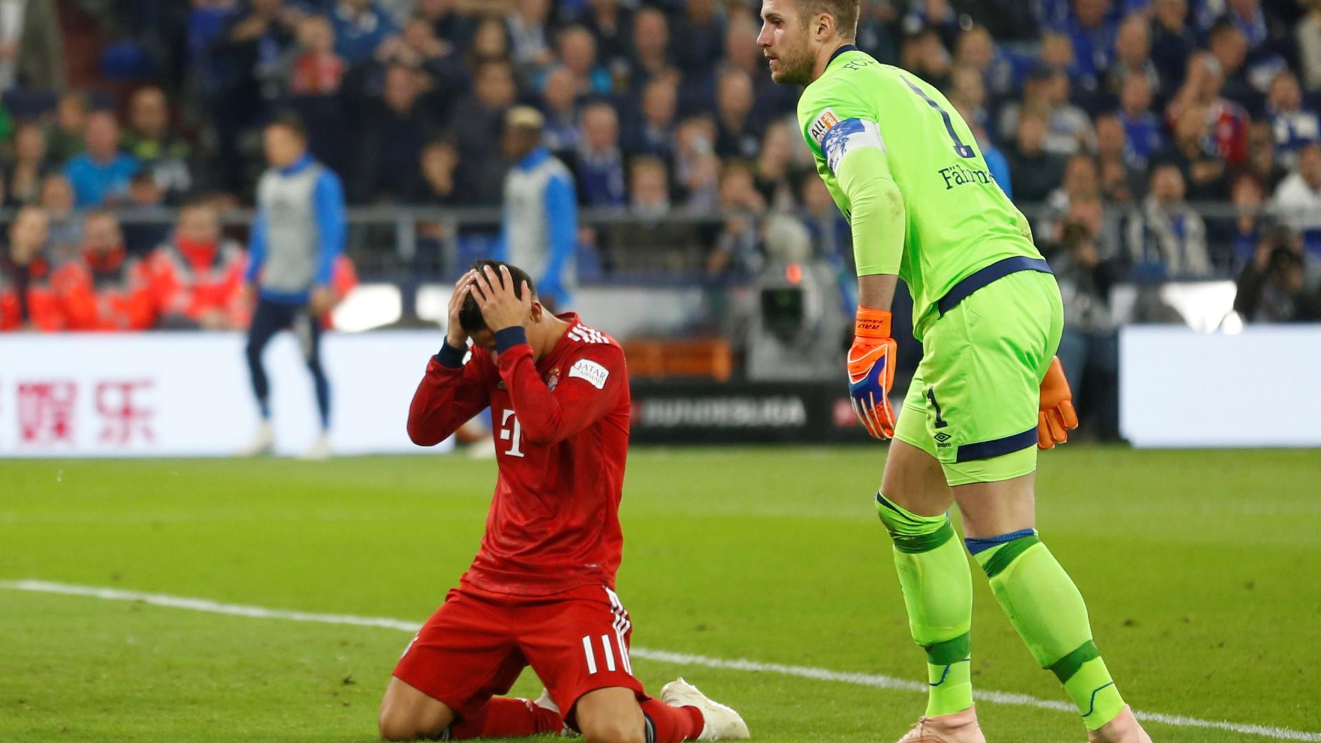 Tempestade em Munique: James teve um ataque de ira no balneário do Bayern