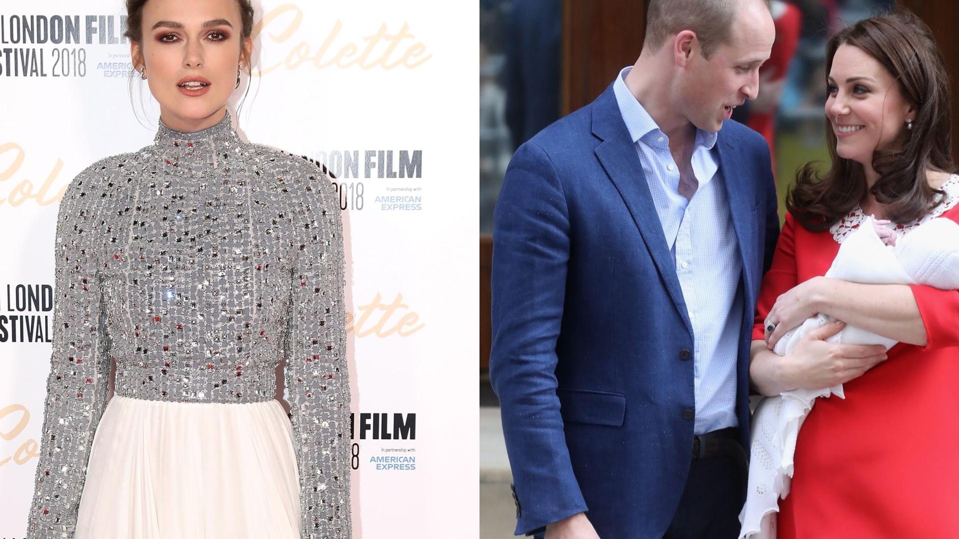 Após críticas a pós-parto de Kate Middleton, Keira Knightley defende-se