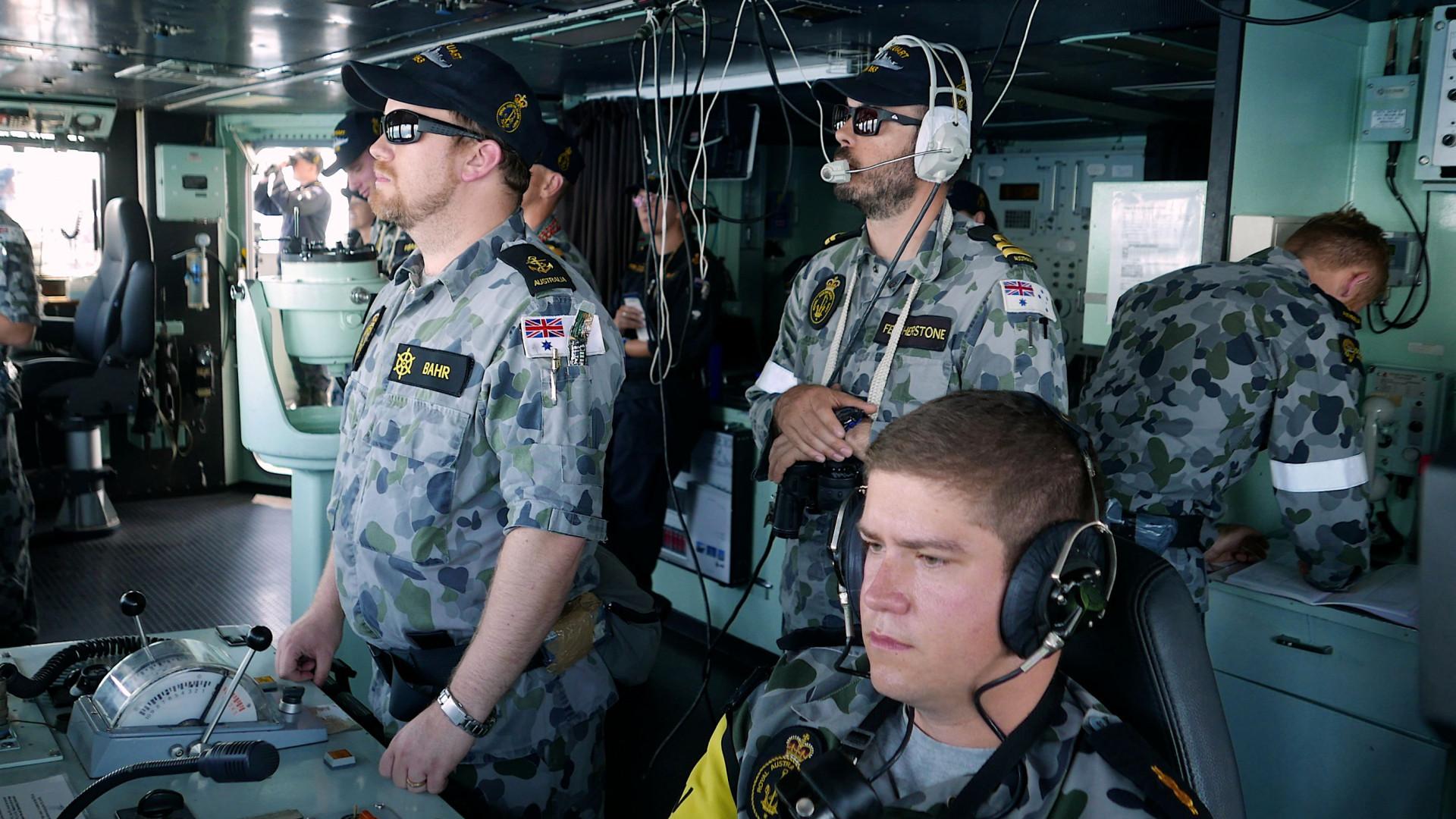 Marinha de guerra australiana destacada para a Península da Coreia