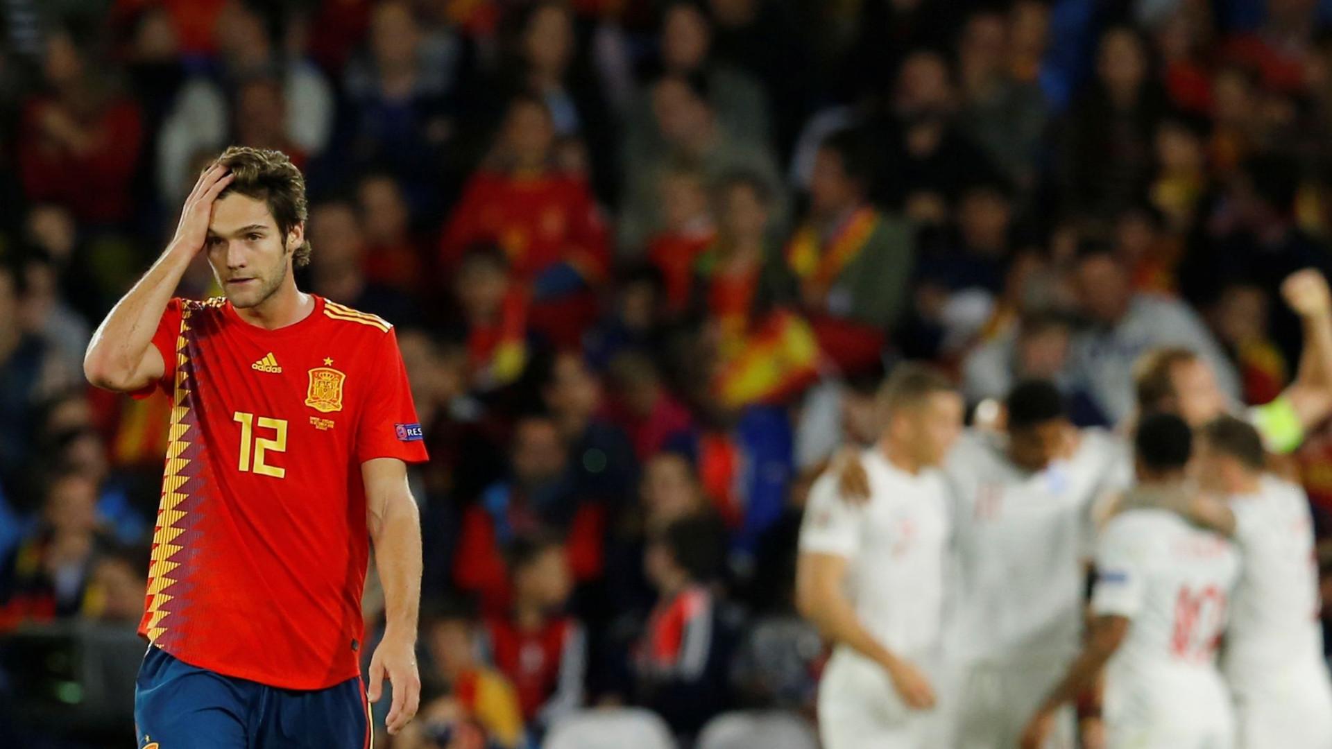 Espanha perde com Inglaterra e coloca em risco qualificação cffce9239fa8e