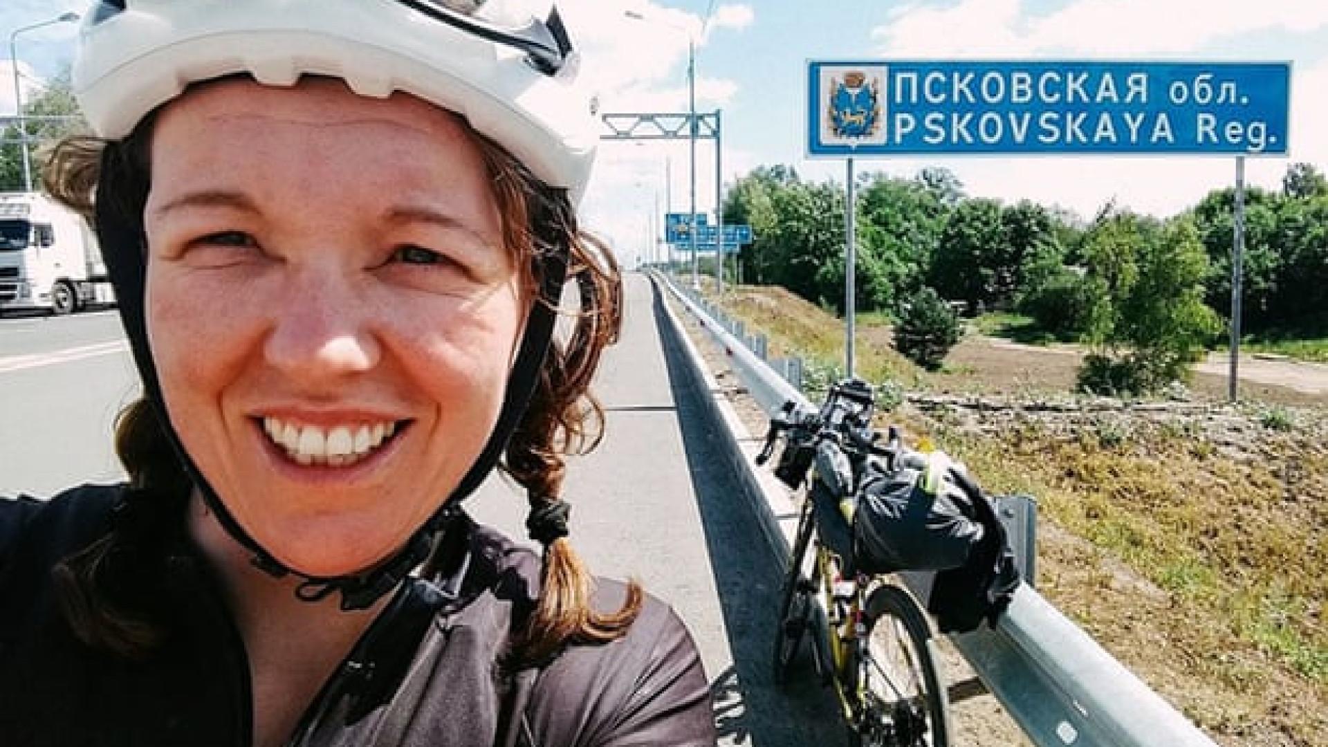 Jenny tornou-se a mulher mais rápida a dar a volta ao mundo em bicicleta