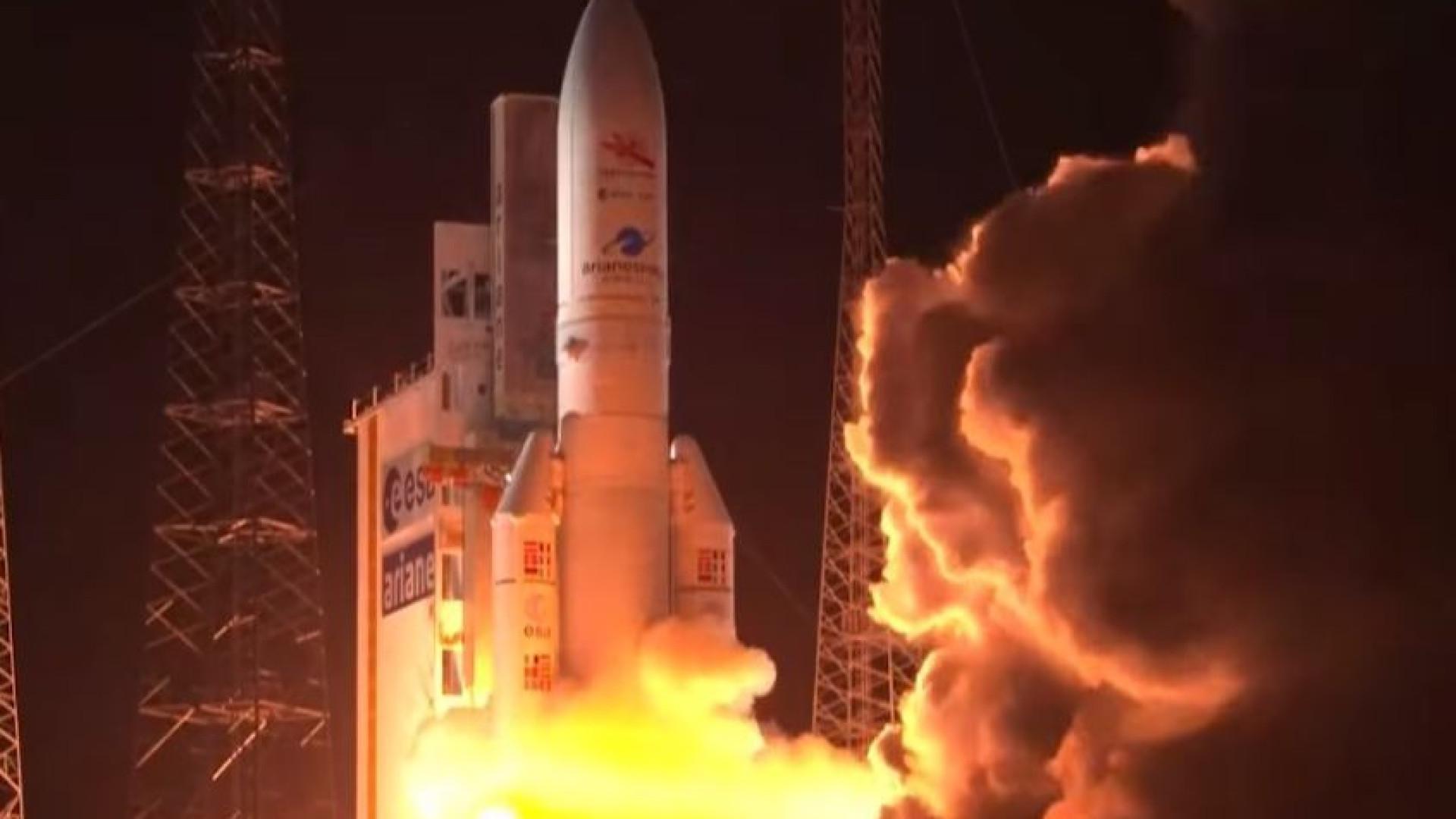 Imagens do lançamento do foguetão da primeira missão europeia a Mercúrio