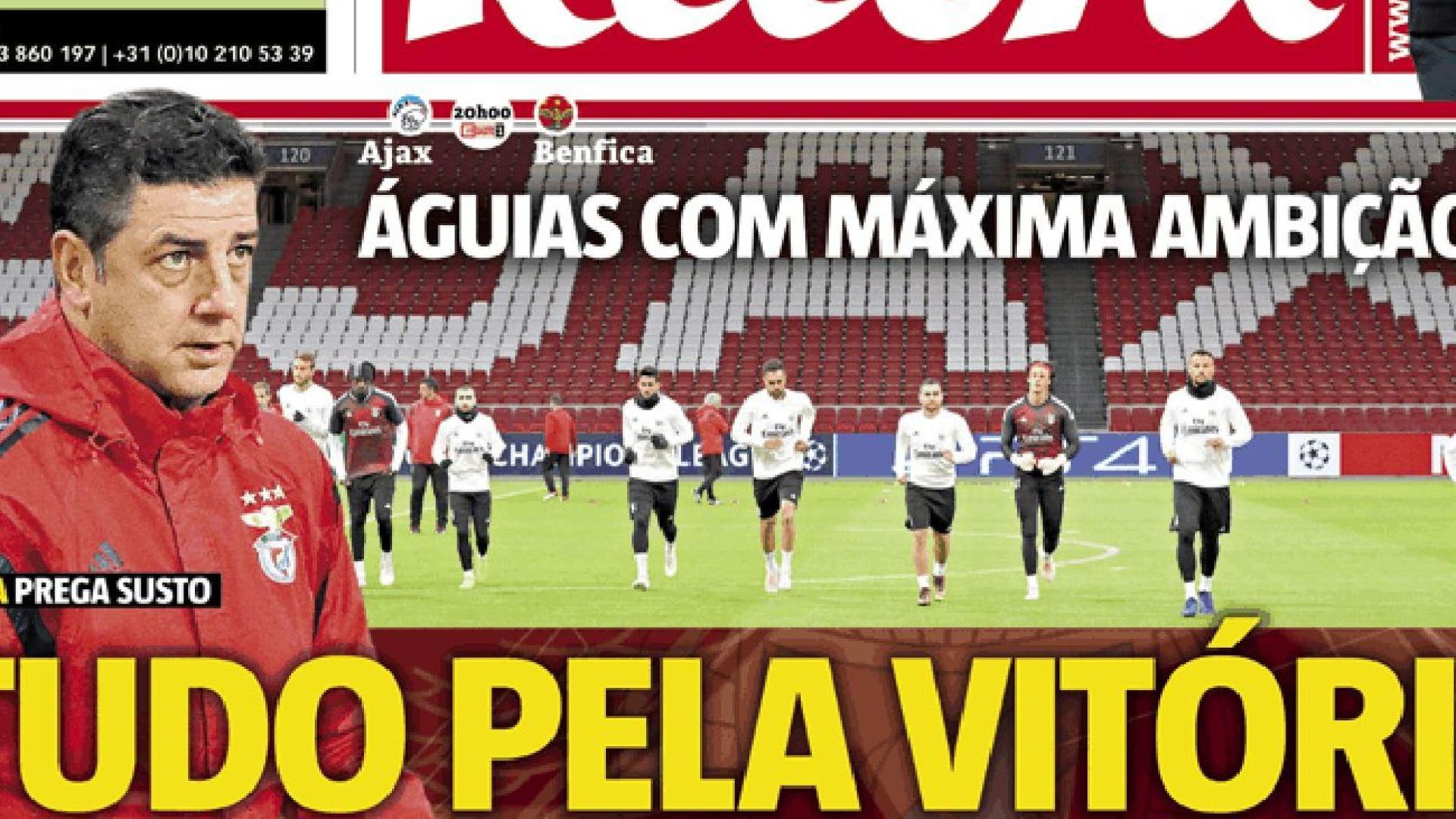 Cá dentro  Benfica joga o futuro europeu em nome do passado 78f557be4f1b2