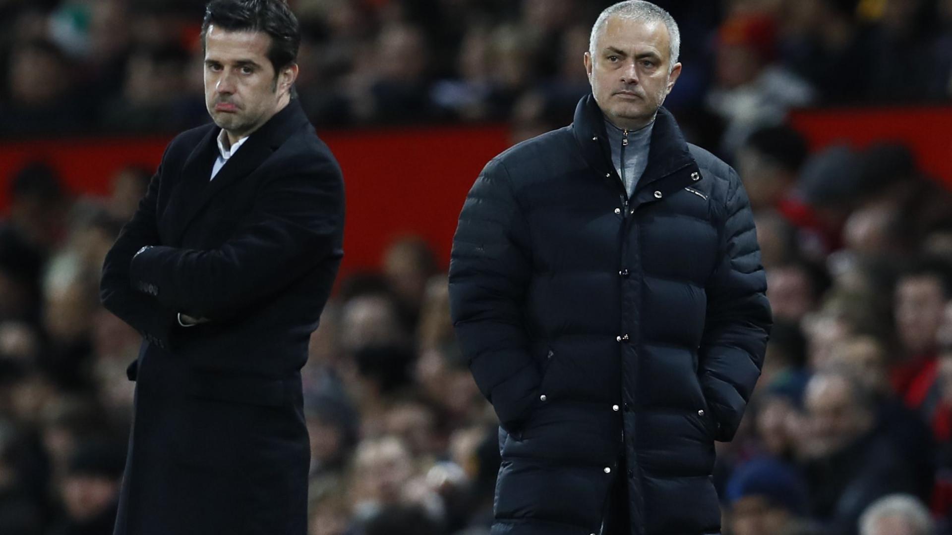 """Mourinho 'avisa' Marco Silva: """"Duvido que acabe à frente do United"""""""