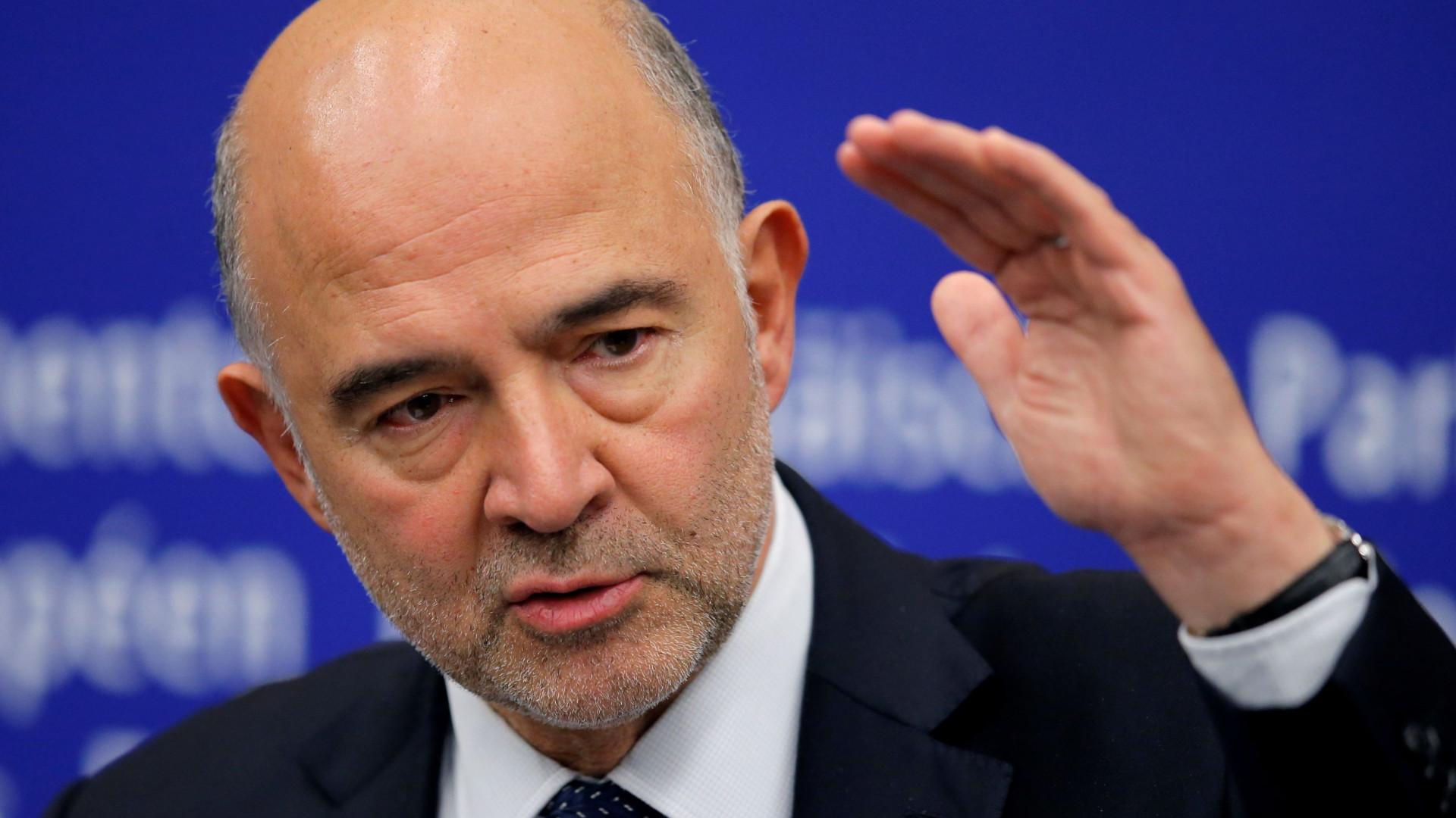 Moscovici reafirma necessidade de Itália reformular plano orçamental