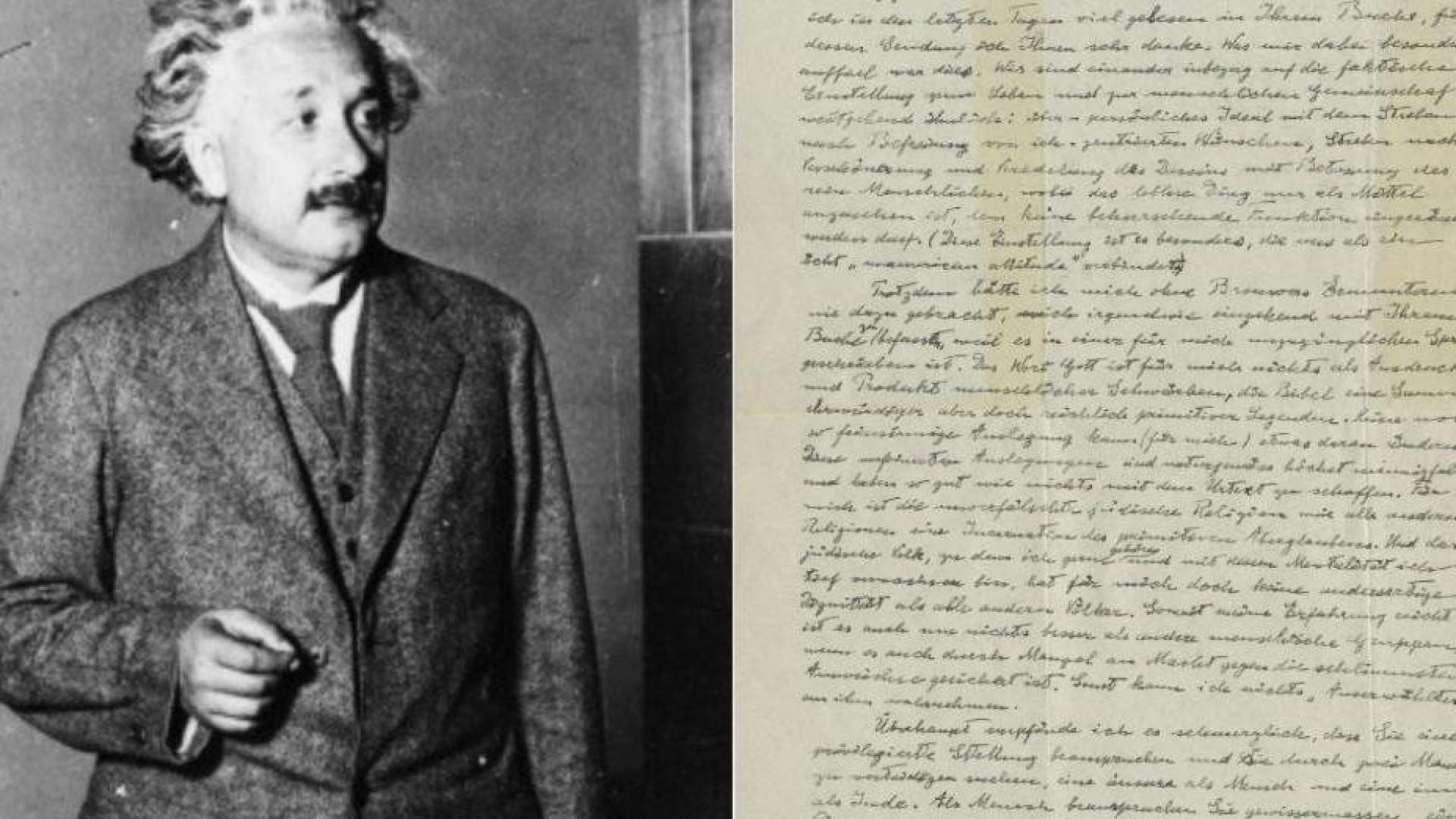 Carta inédita revela receios de Einstein antes de nazis chegarem ao poder