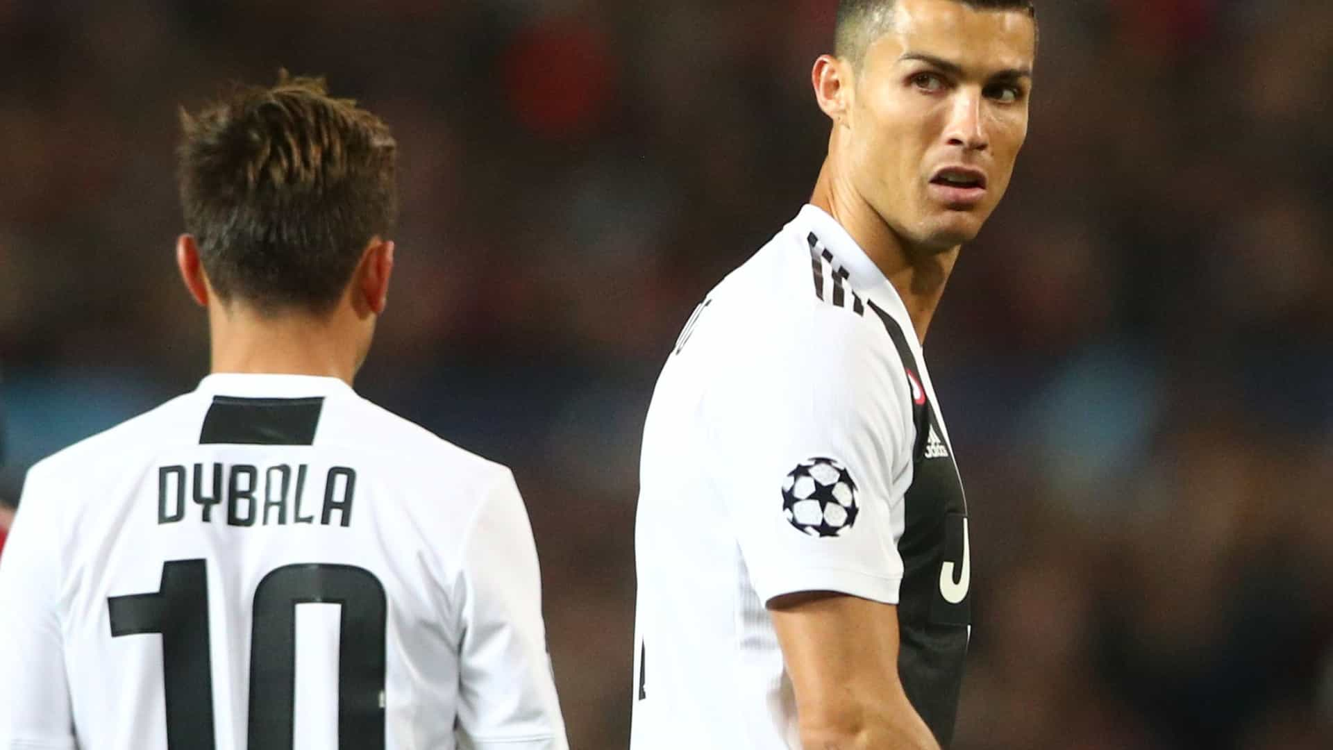 """O elogio de Dybala: """"Ronaldo está sempre calmo e é muito profissional"""""""