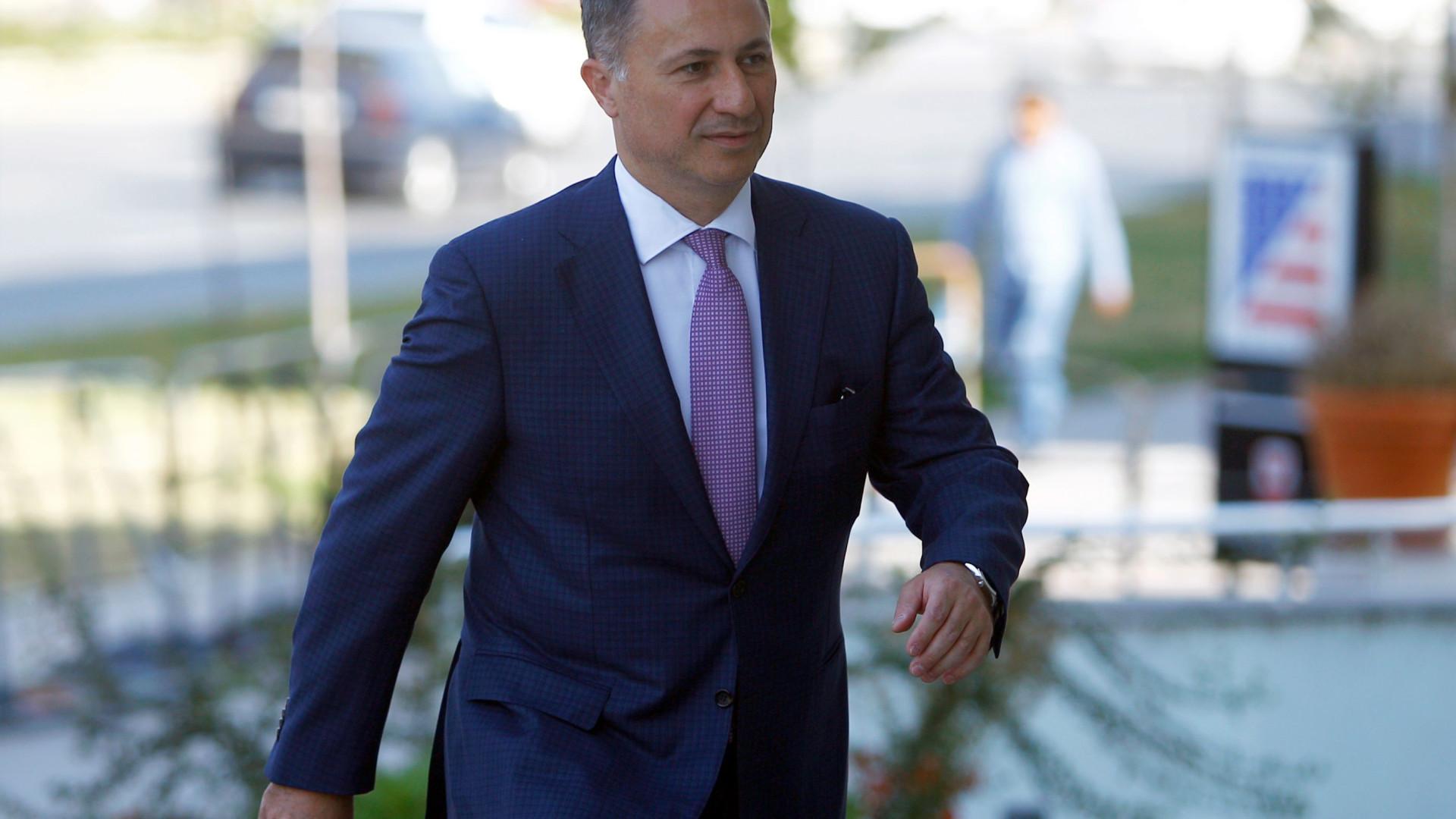Emitido mandado de detenção contra ex-primeiro-ministro da Macedónia