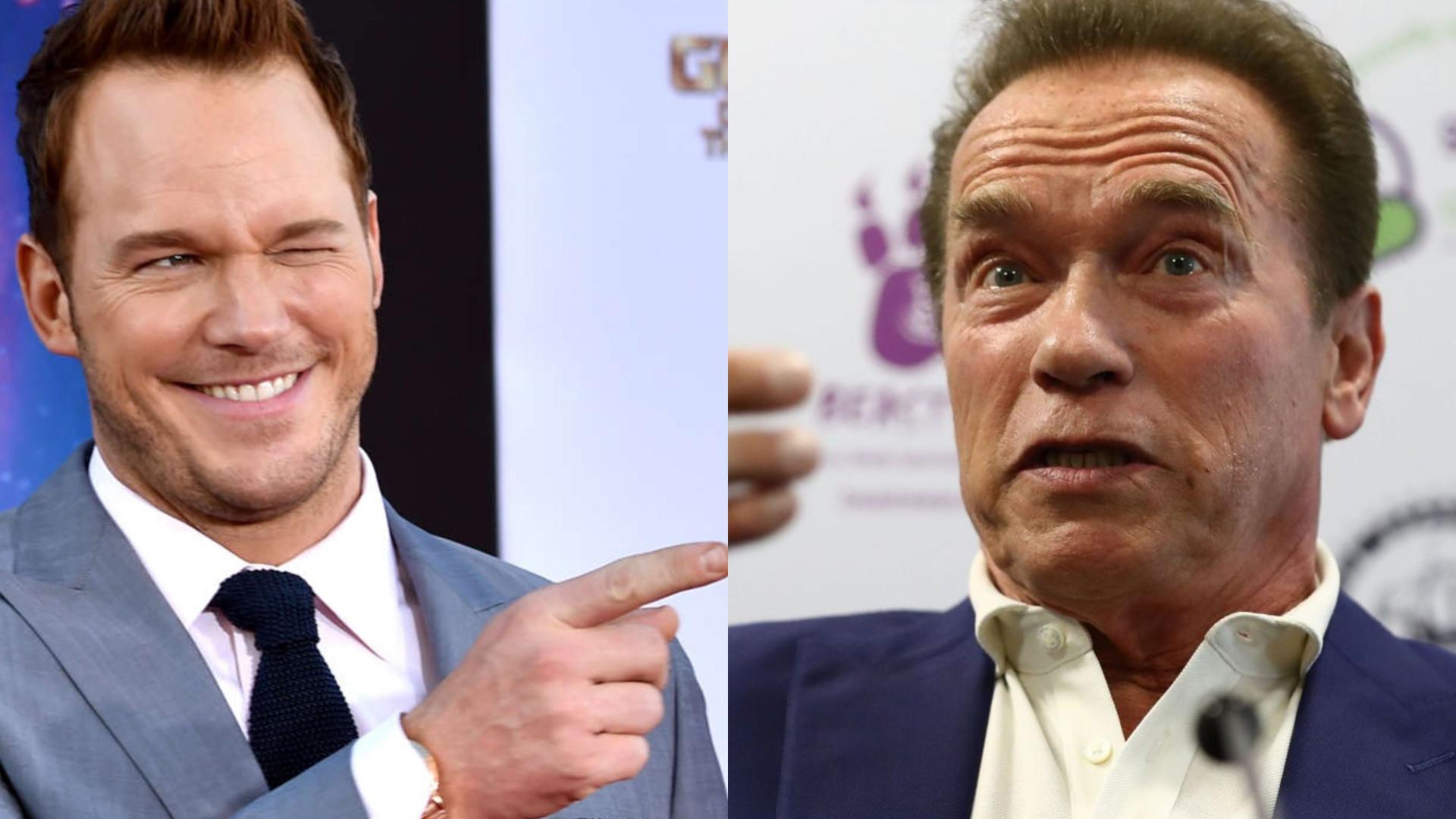Chris Pratt toma pequeno almoço com o sogro, Arnold Schwarzenegger