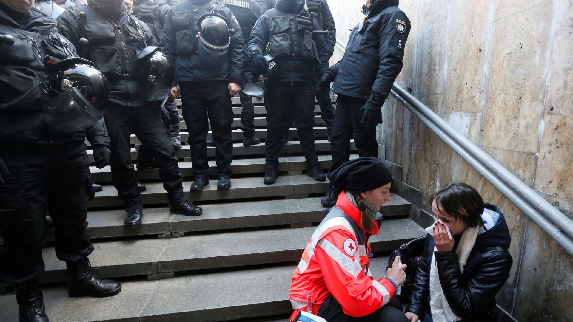 Manifestantes pelos direitos transgénero agredidos em Kiev