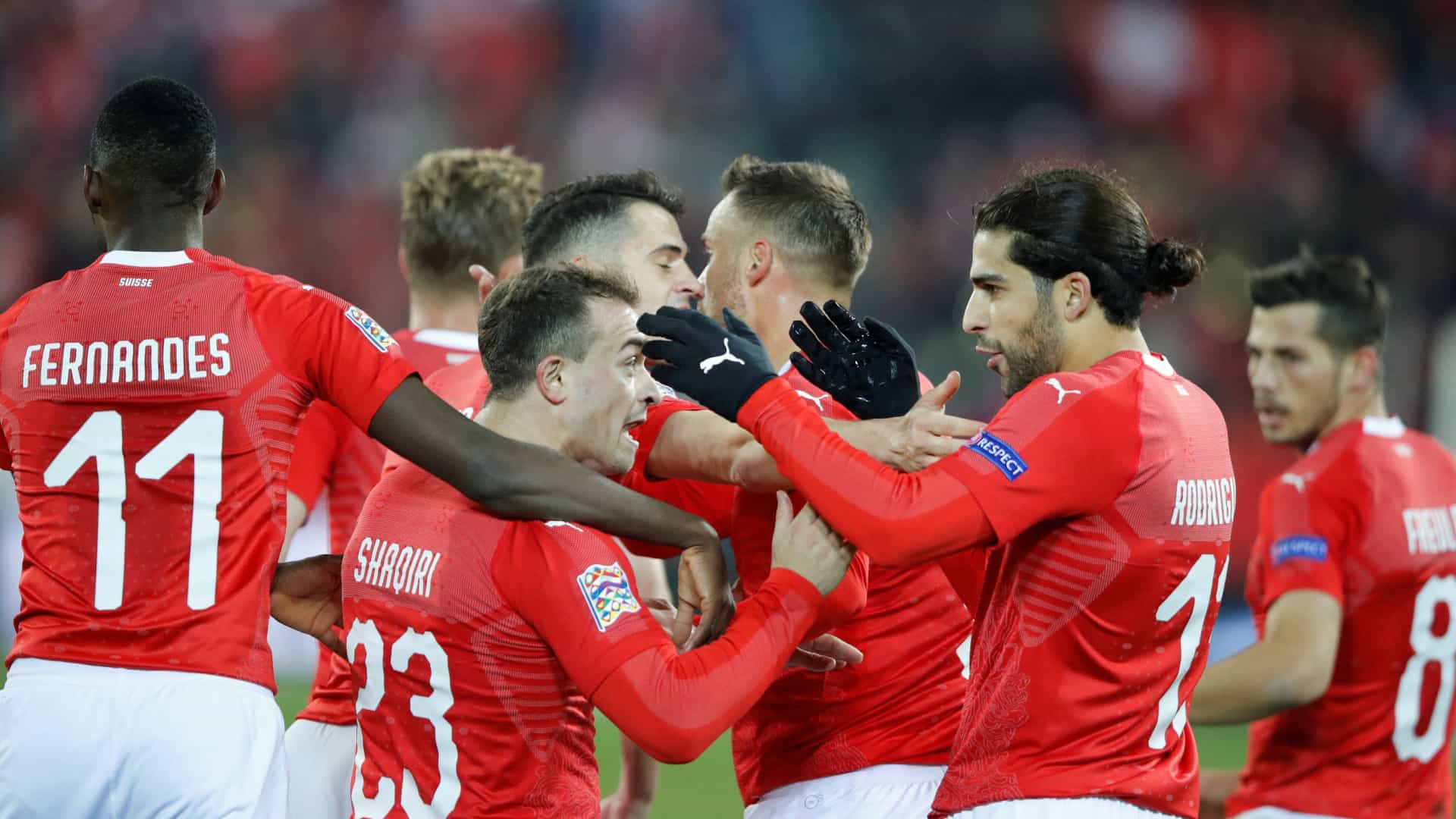 Hat trick de Seferovic afasta Bélgica e qualifica Suíça para a final four