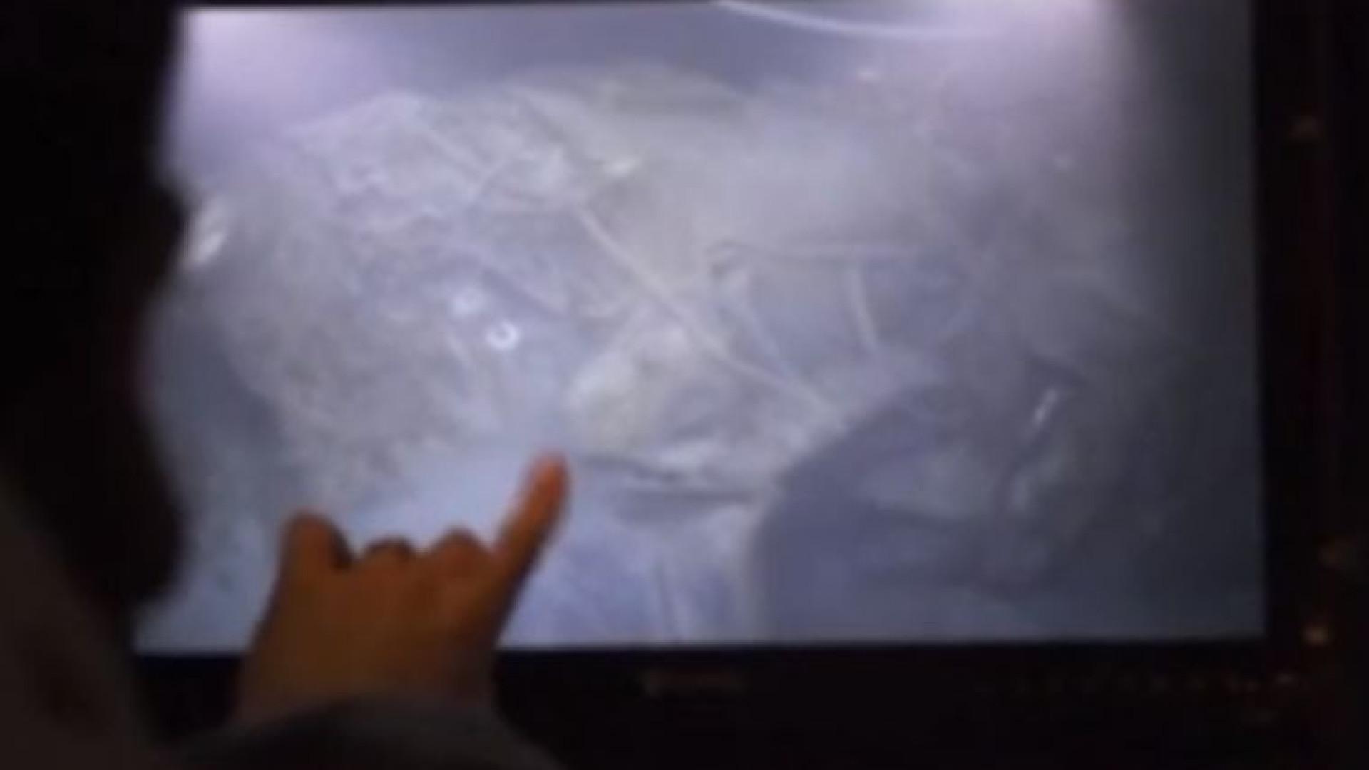 As imagens do submarino argentino encontrado no oceano Atlântico