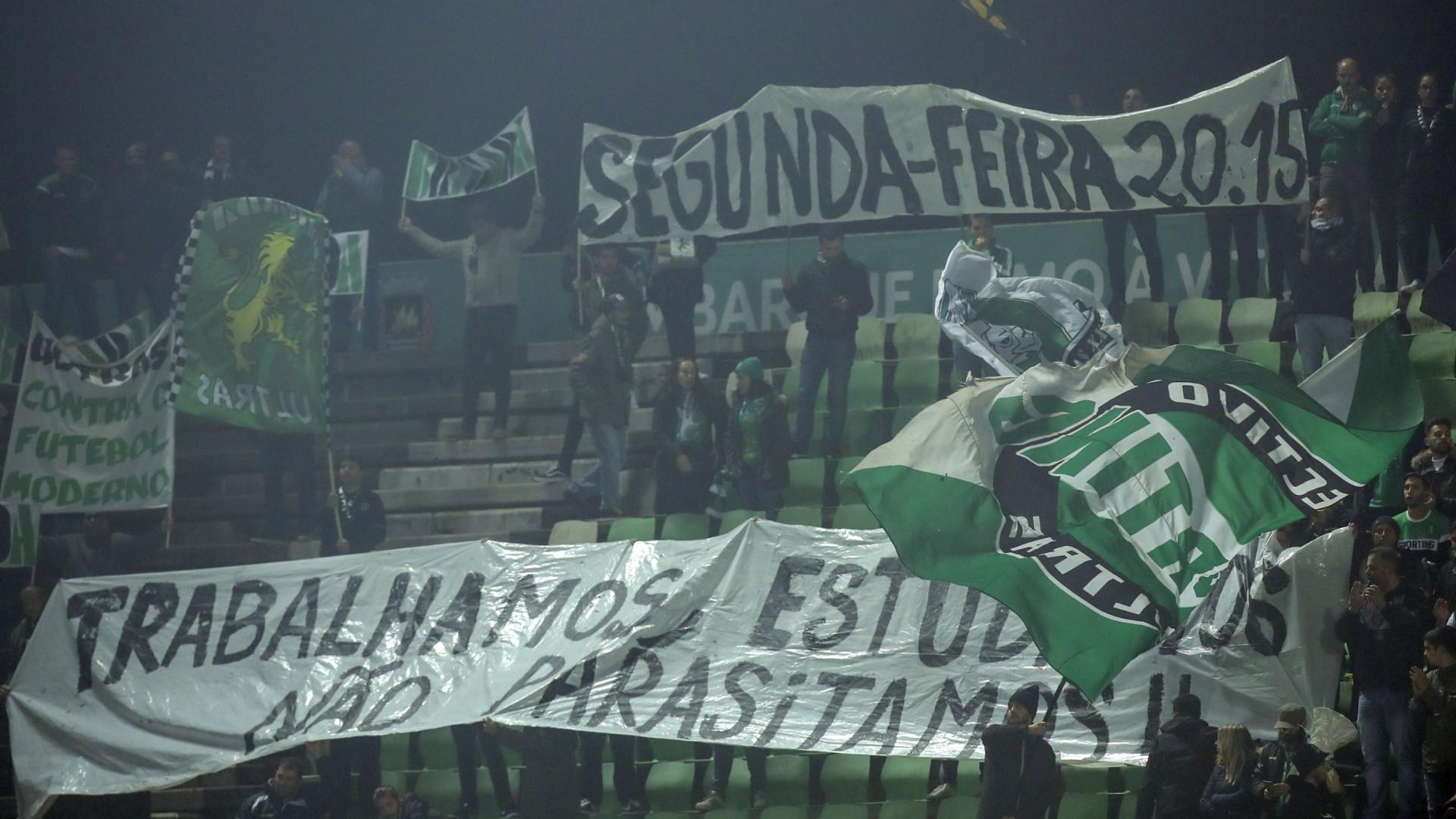 Adeptos do Sporting deixaram recado à Liga em Vila do Conde