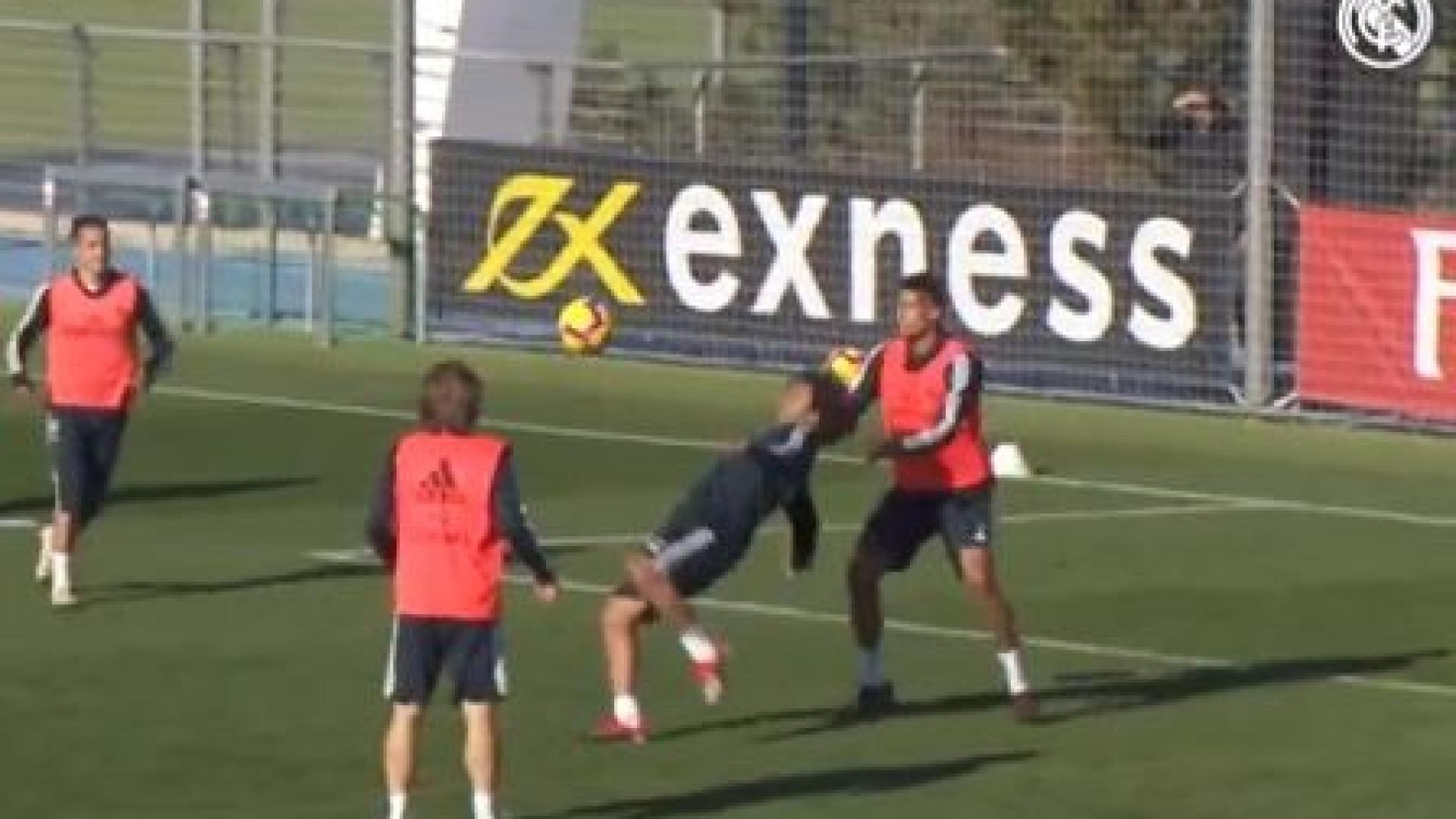 Ronaldo de regresso aos treinos do Real? Não, foi mesmo Marcelo